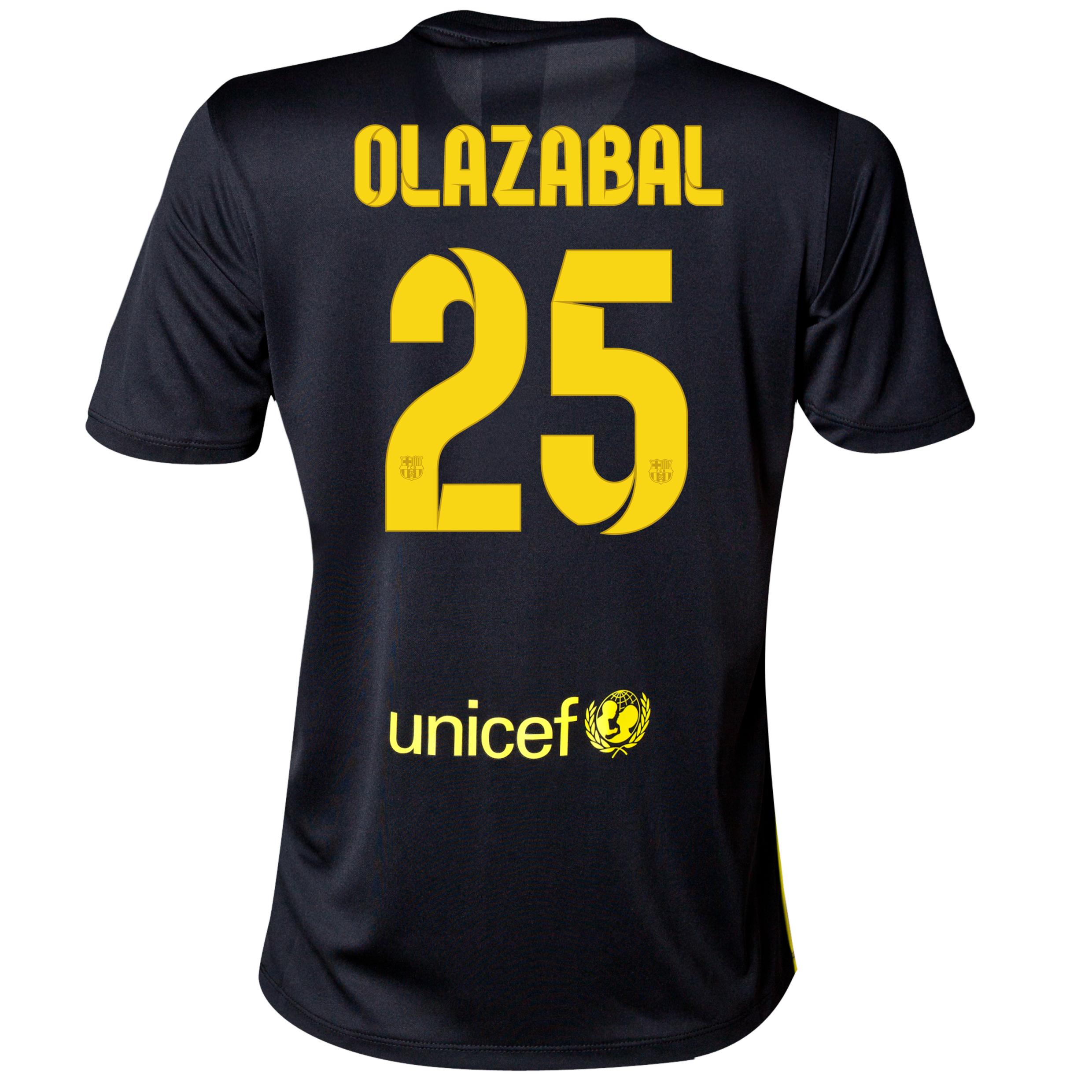 Barcelona Third Shirt 2013/14 - Womens with Olazábal 25 printing