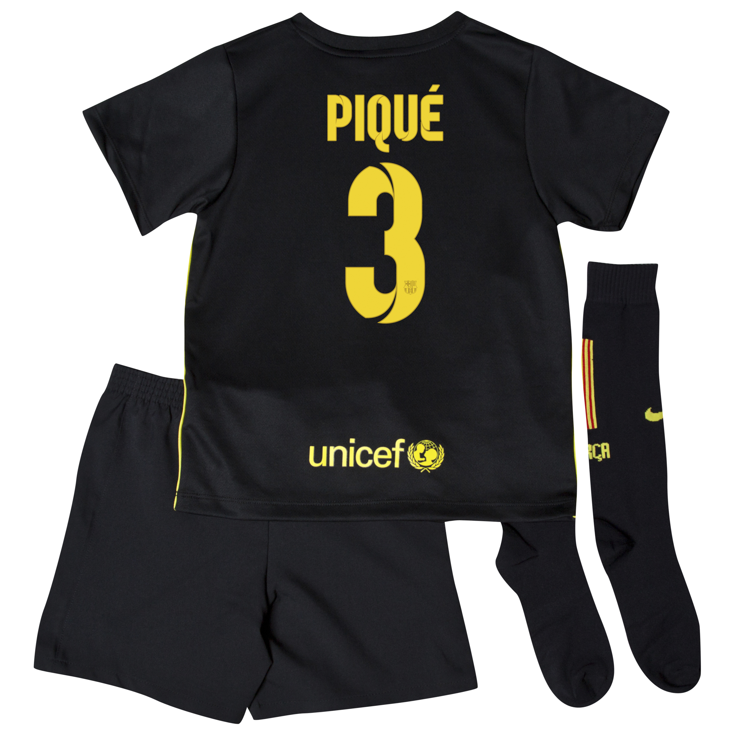 Barcelona Third Kit 2013/14 - Little Boys with Pique 3 printing