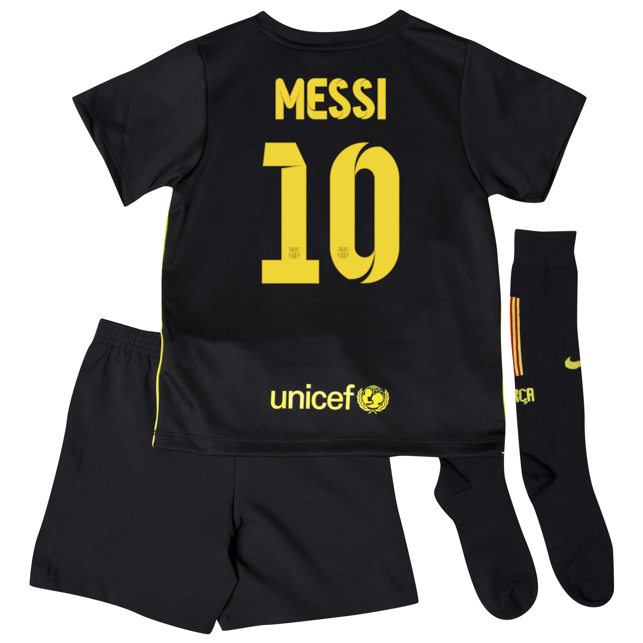 Barcelona Third Kit 2013/14 - Little Boys with Messi 10 printing