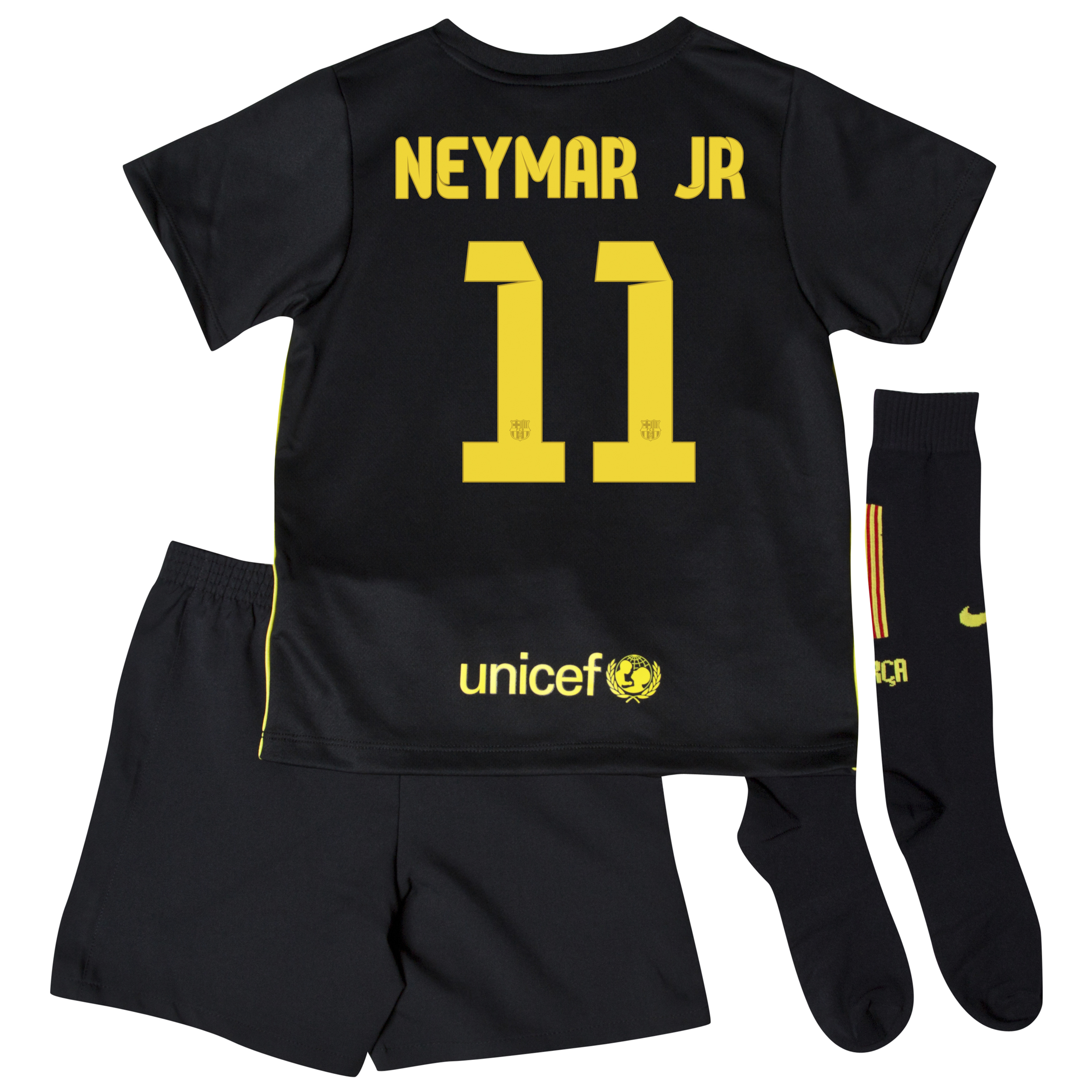 Barcelona Third Kit 2013/14 - Little Boys with Neymar Jr 11 printing