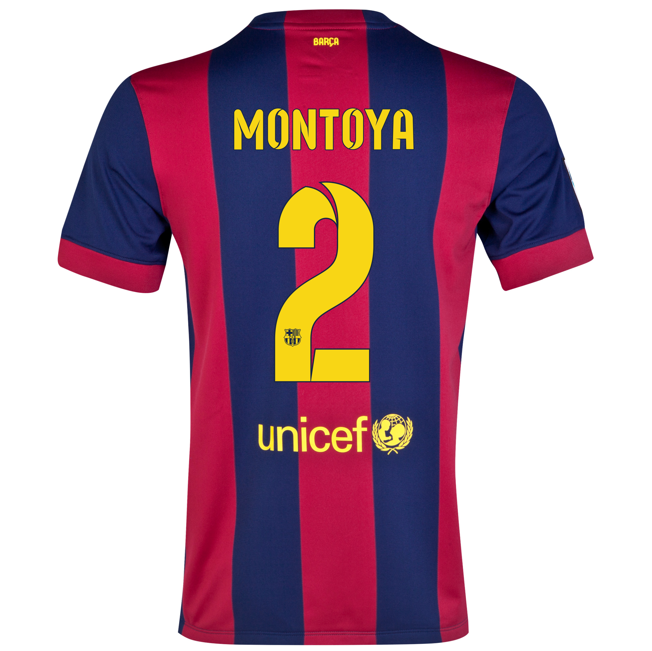 Barcelona Home Shirt 2014/15 - Kids Blue with Montoya 2 printing