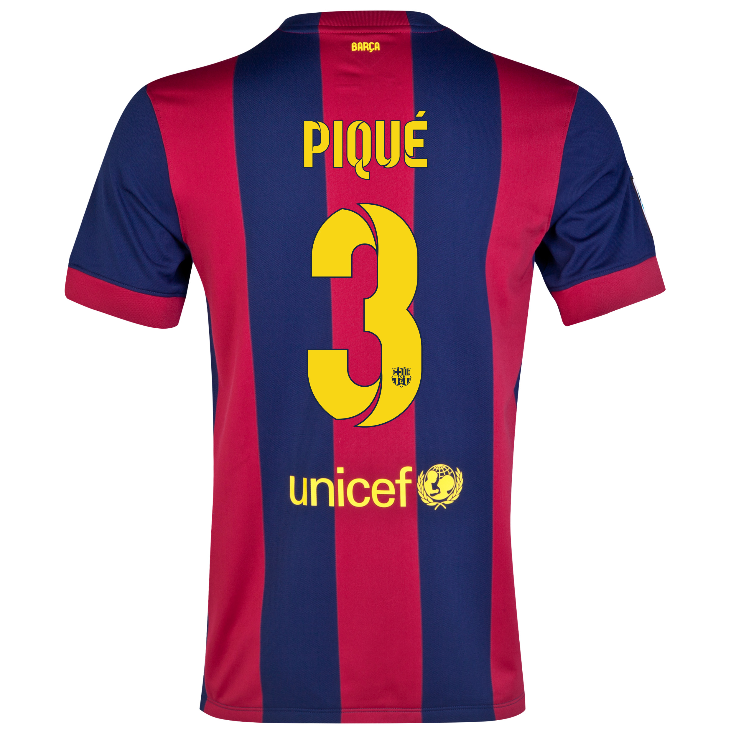 Barcelona Home Shirt 2014/15 - Kids Blue with Pique 3 printing