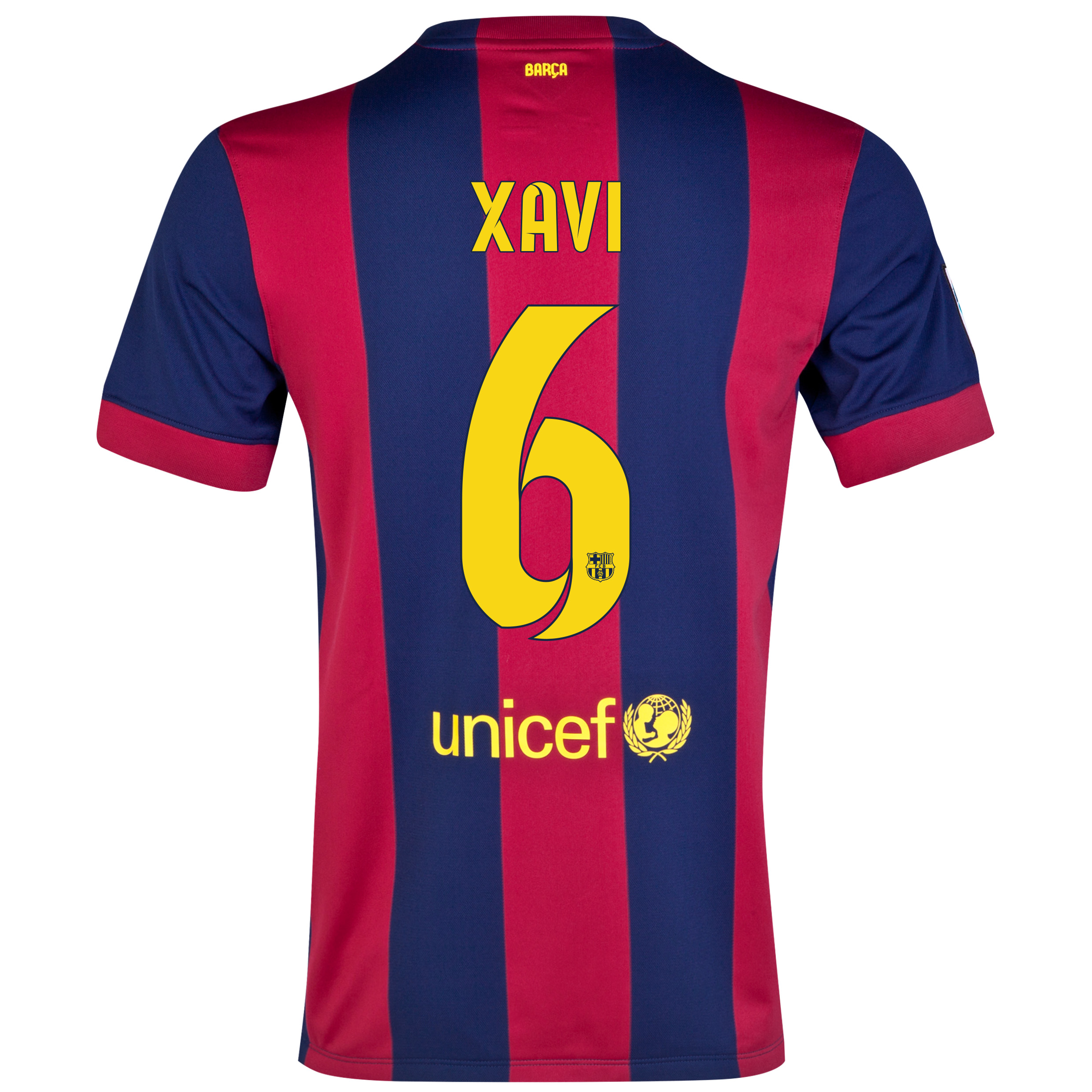 Barcelona Home Shirt 2014/15 - Kids Blue with Xavi 6 printing