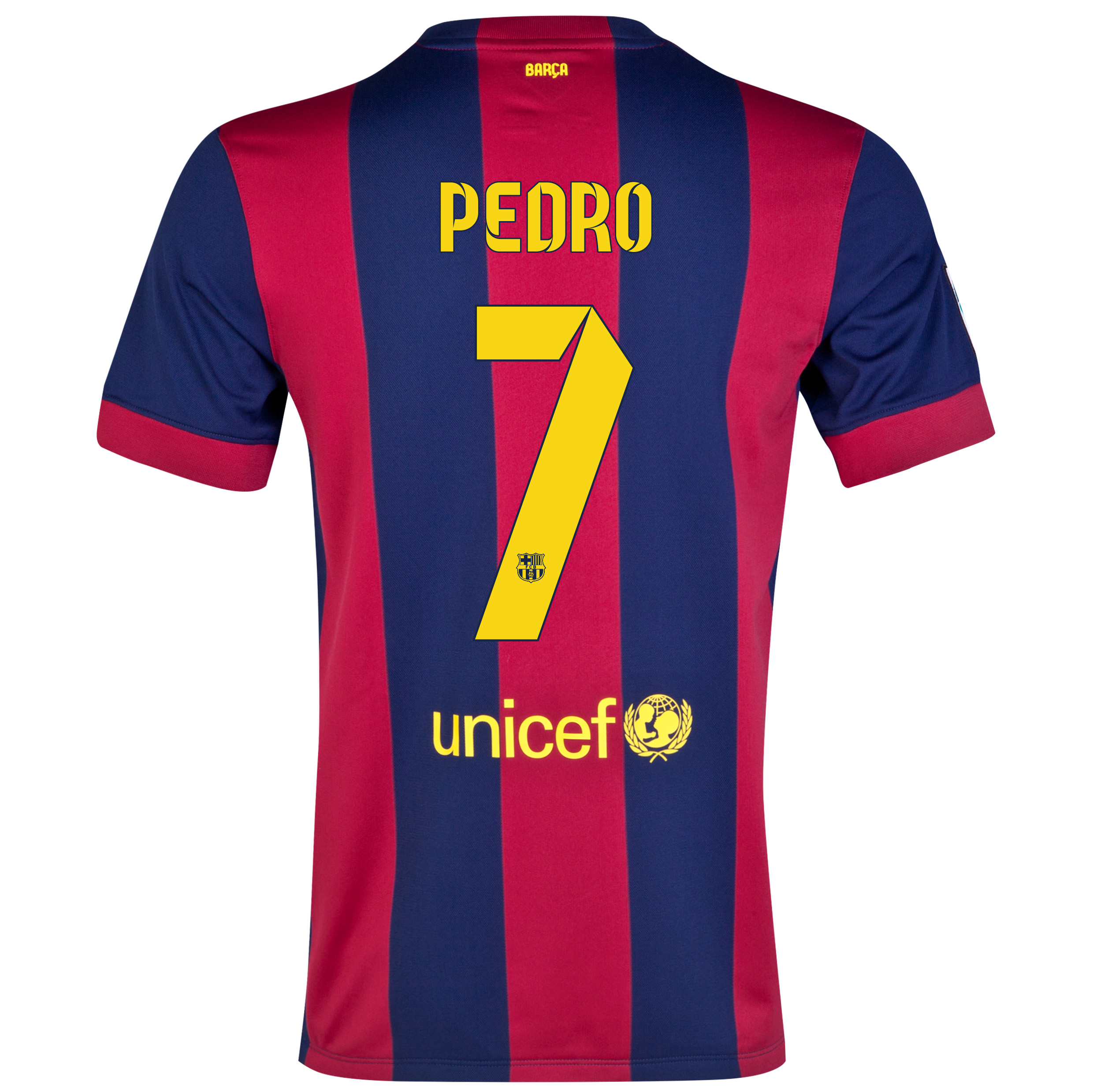 Barcelona Home Shirt 2014/15 - Kids Blue with Pedro 7 printing