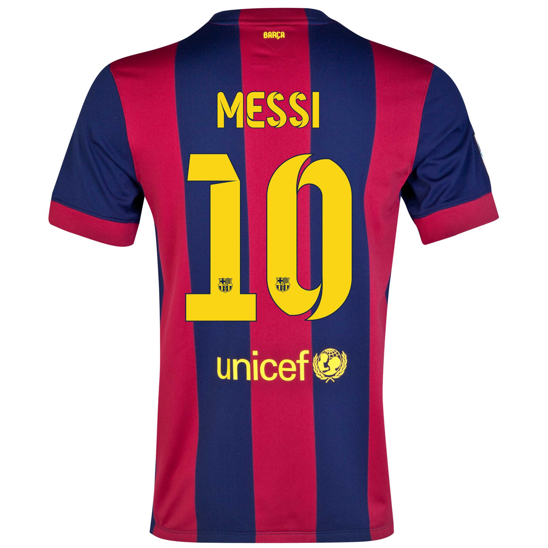 Barcelona Home Shirt 2014/15 - Kids Blue with Messi 10 printing