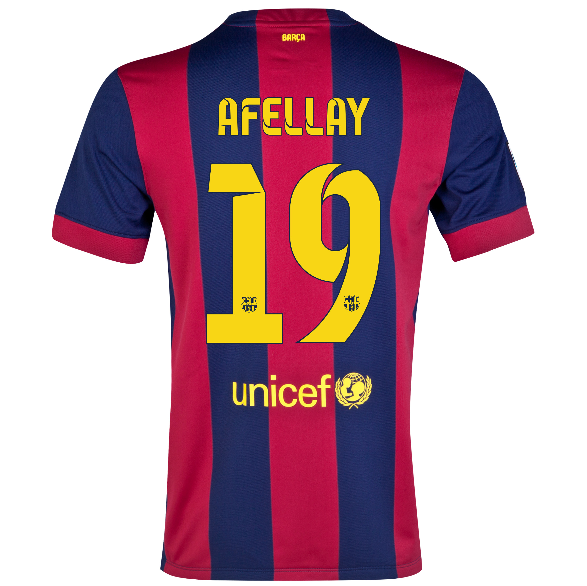 Barcelona Home Shirt 2014/15 - Kids Blue with Afellay 19 printing