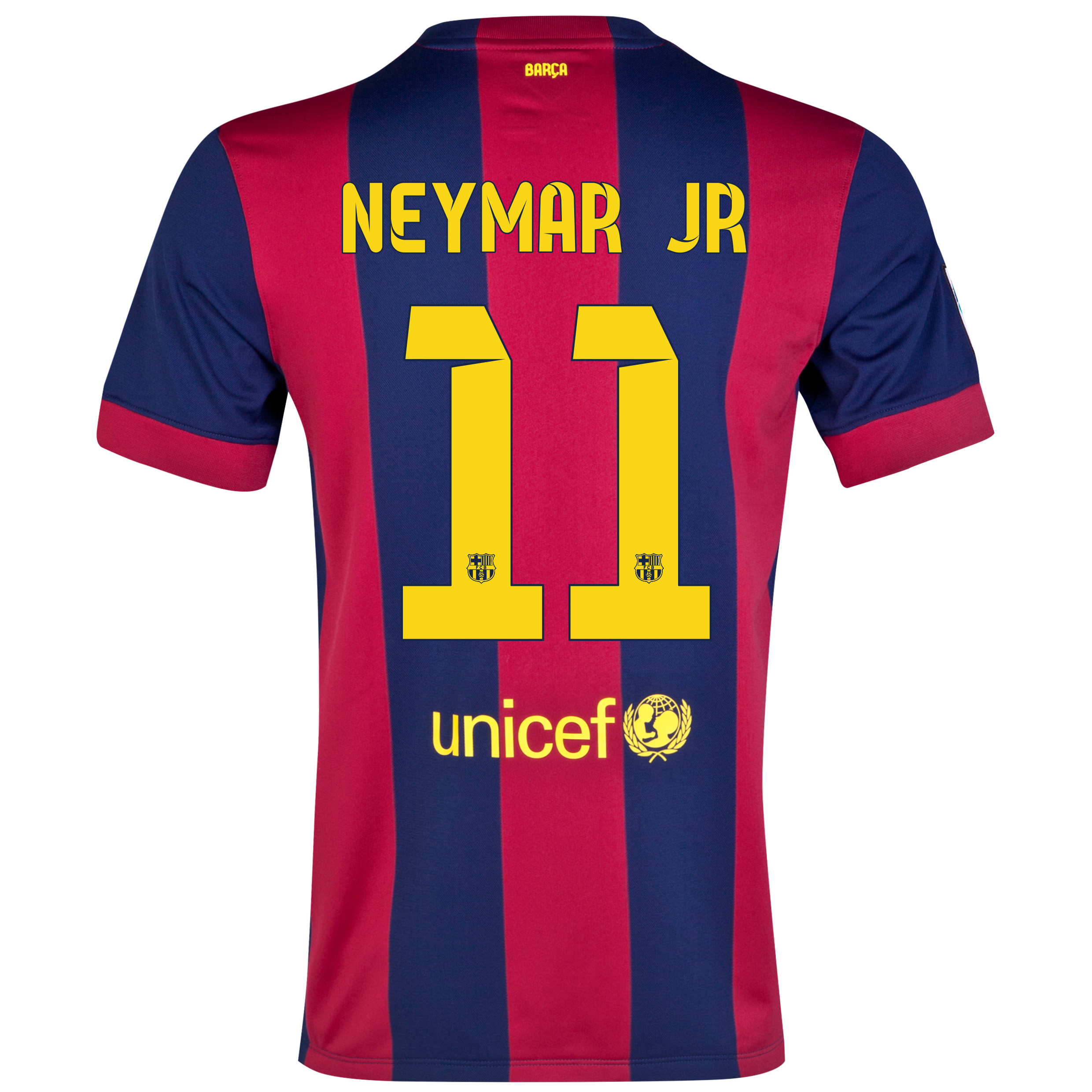 Barcelona Home Shirt 2014/15 - Womens Blue with Neymar Jr 11 printing