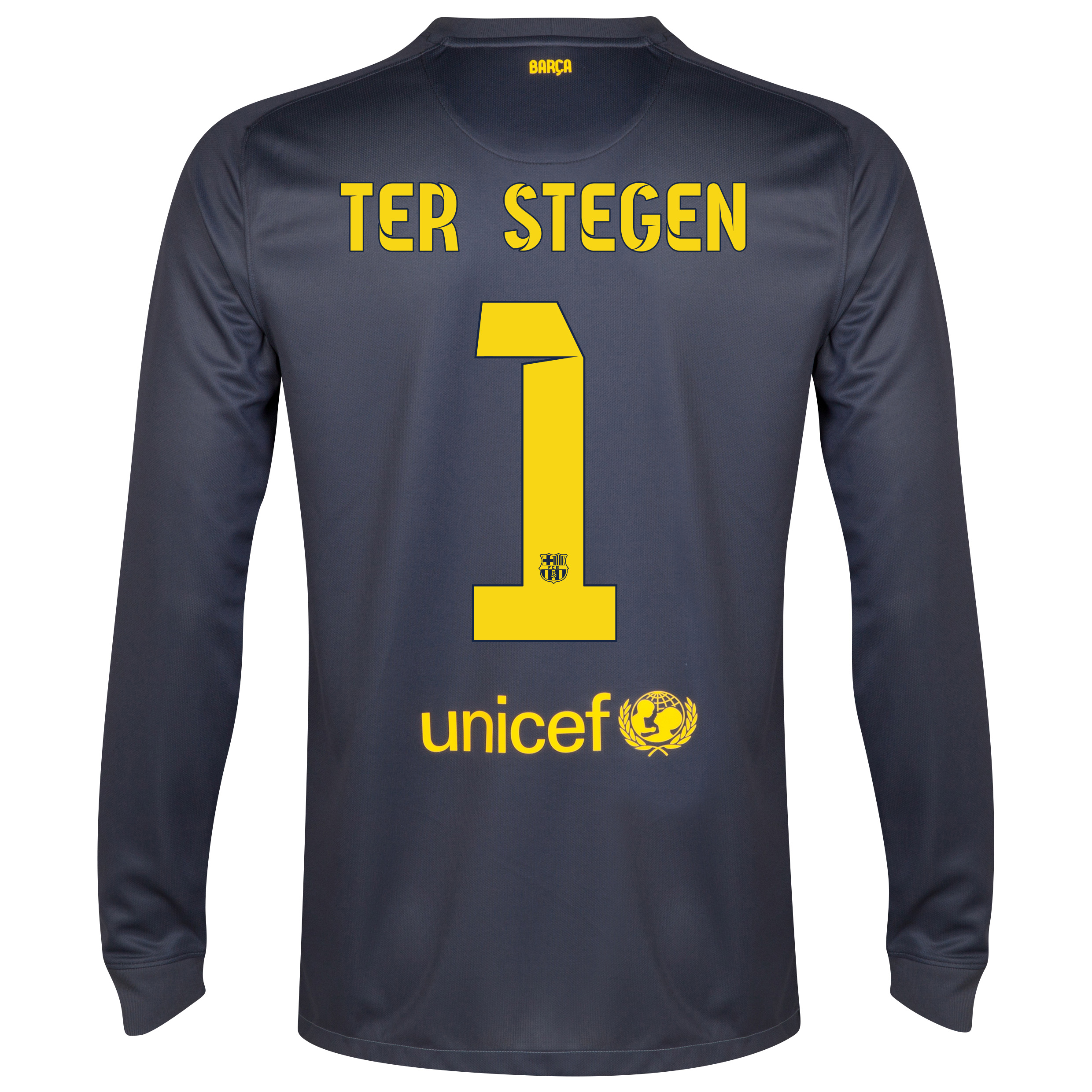 Barcelona Goalkeeper Shirt 2014/15 - Kids Black with Ter Stegen 1 printing