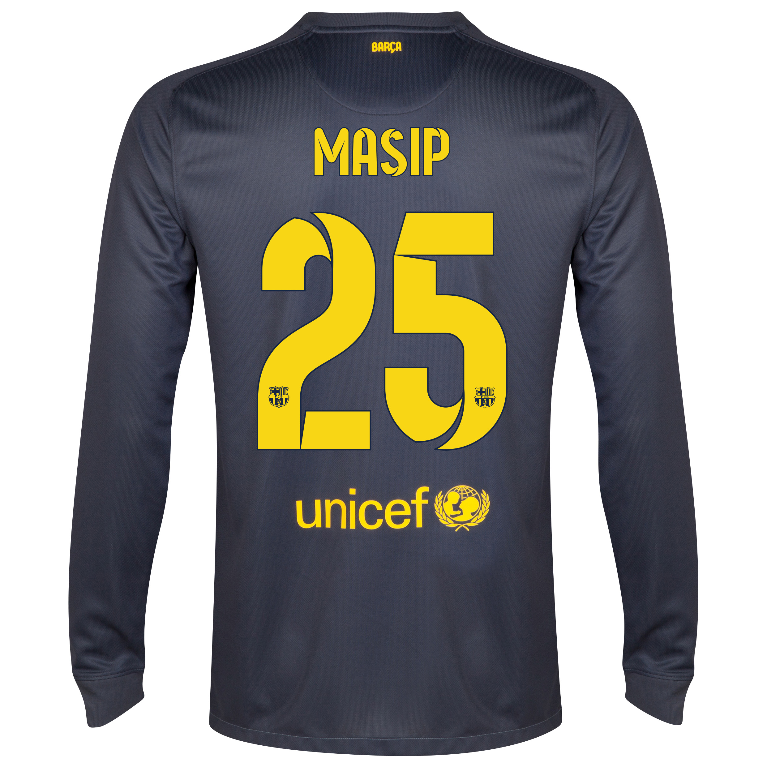 Barcelona Goalkeeper Shirt 2014/15 - Kids Black with Masip 25 printing