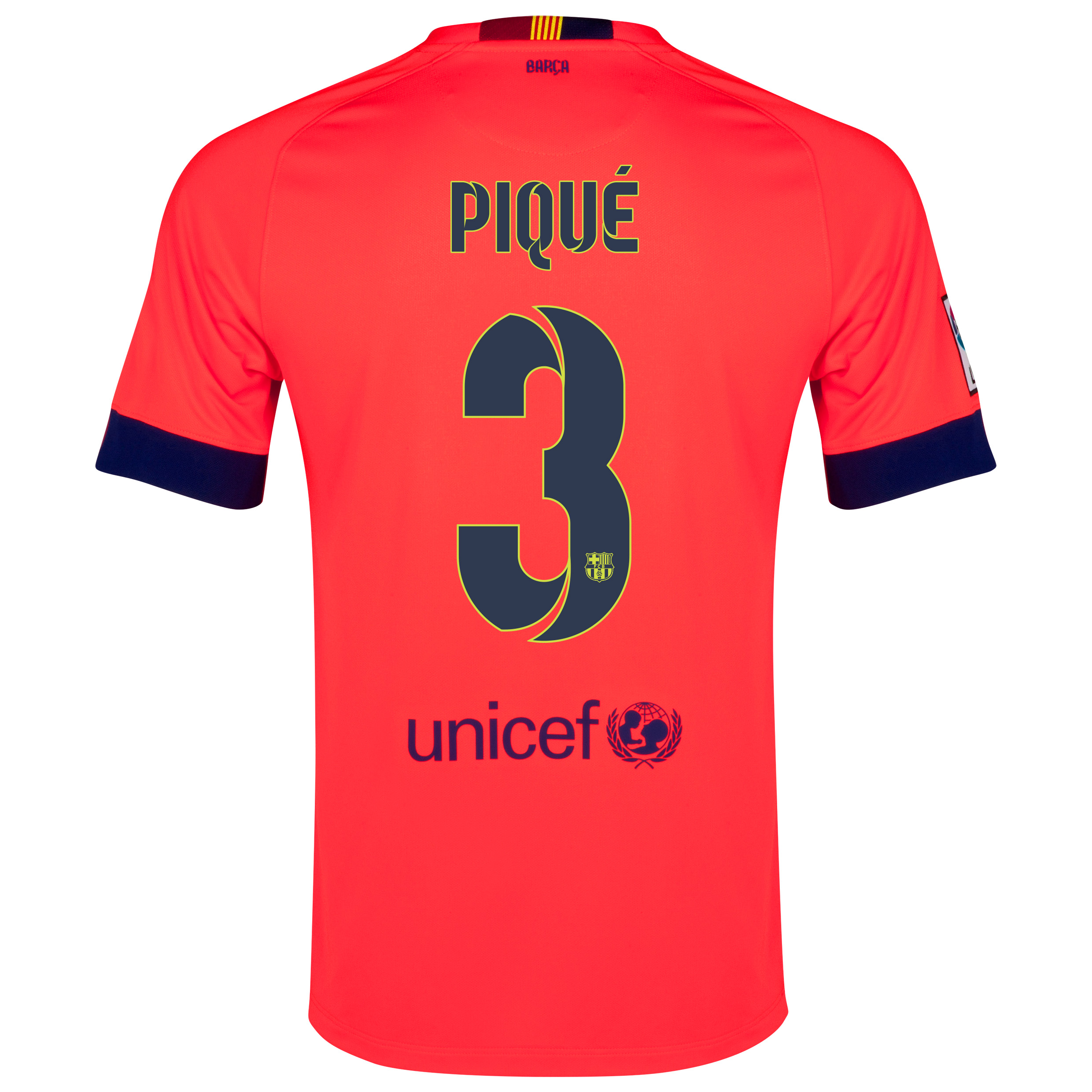 Barcelona Away Shirt 2014/15 - Kids Red with Pique 3 printing