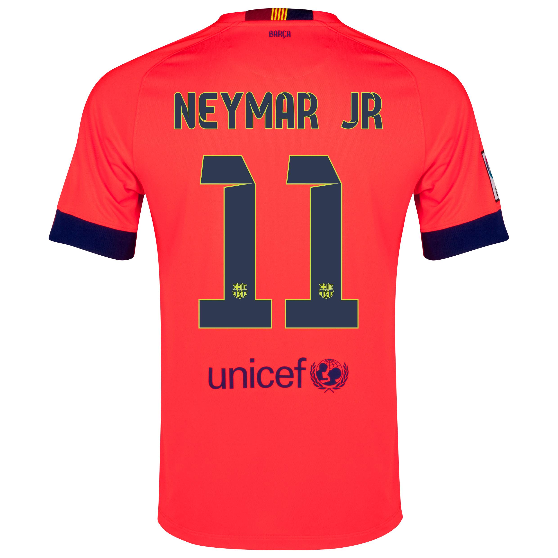 Barcelona Away Shirt 2014/15 - Kids Red with Neymar Jr 11 printing