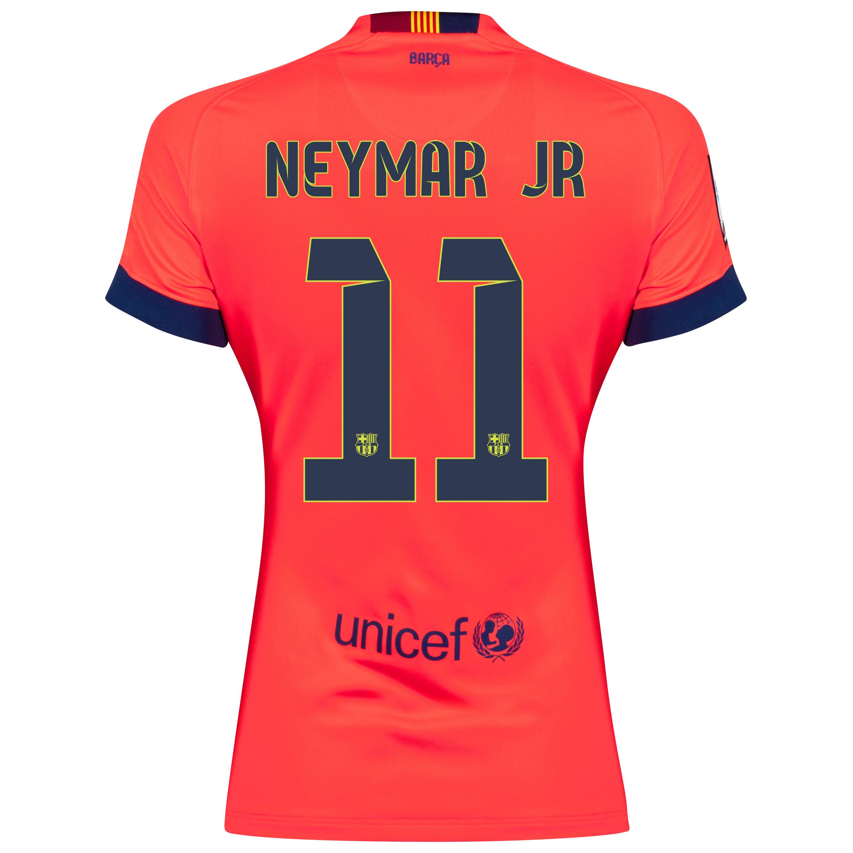 Barcelona Away Shirt 2014/15 - Womens Red with Neymar Jr 11 printing