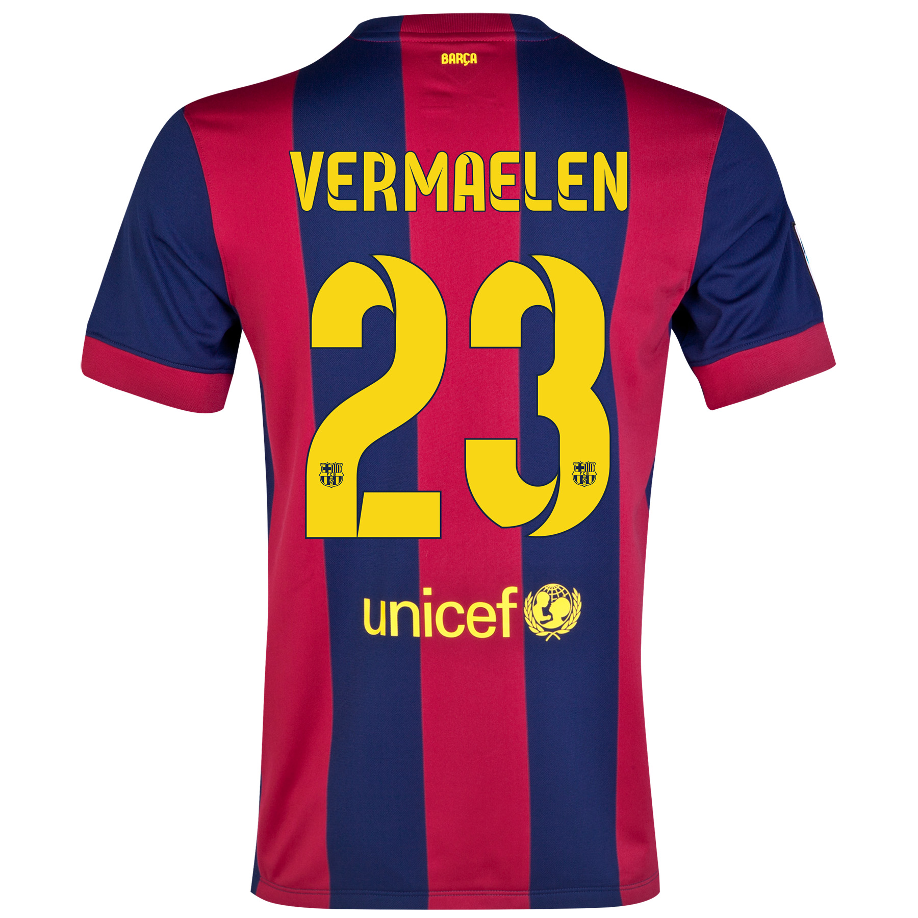 Barcelona Home Shirt 2014/15 - Womens Blue with Vermaelen 23 printing