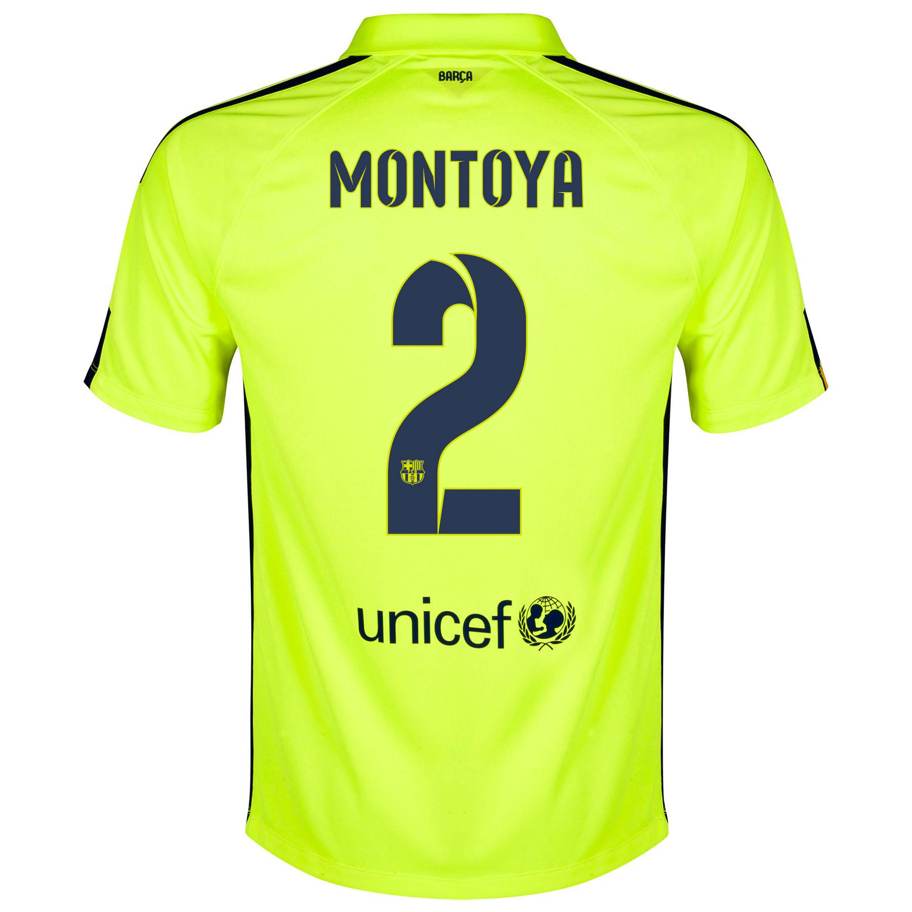 Barcelona Third Shirt 2014/15 Yellow with Montoya 2 printing