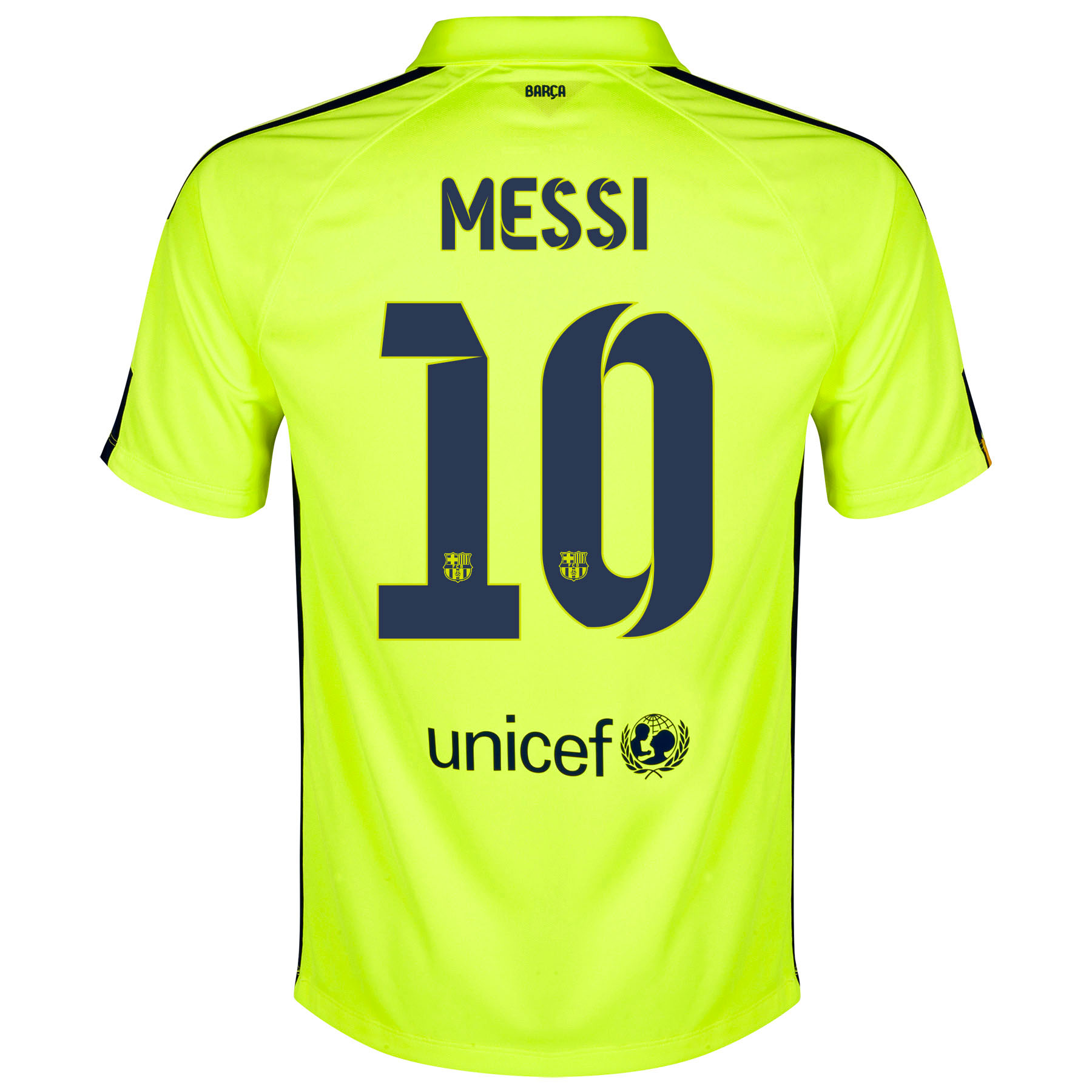 Barcelona Third Shirt 2014/15 Yellow with Messi 10 printing