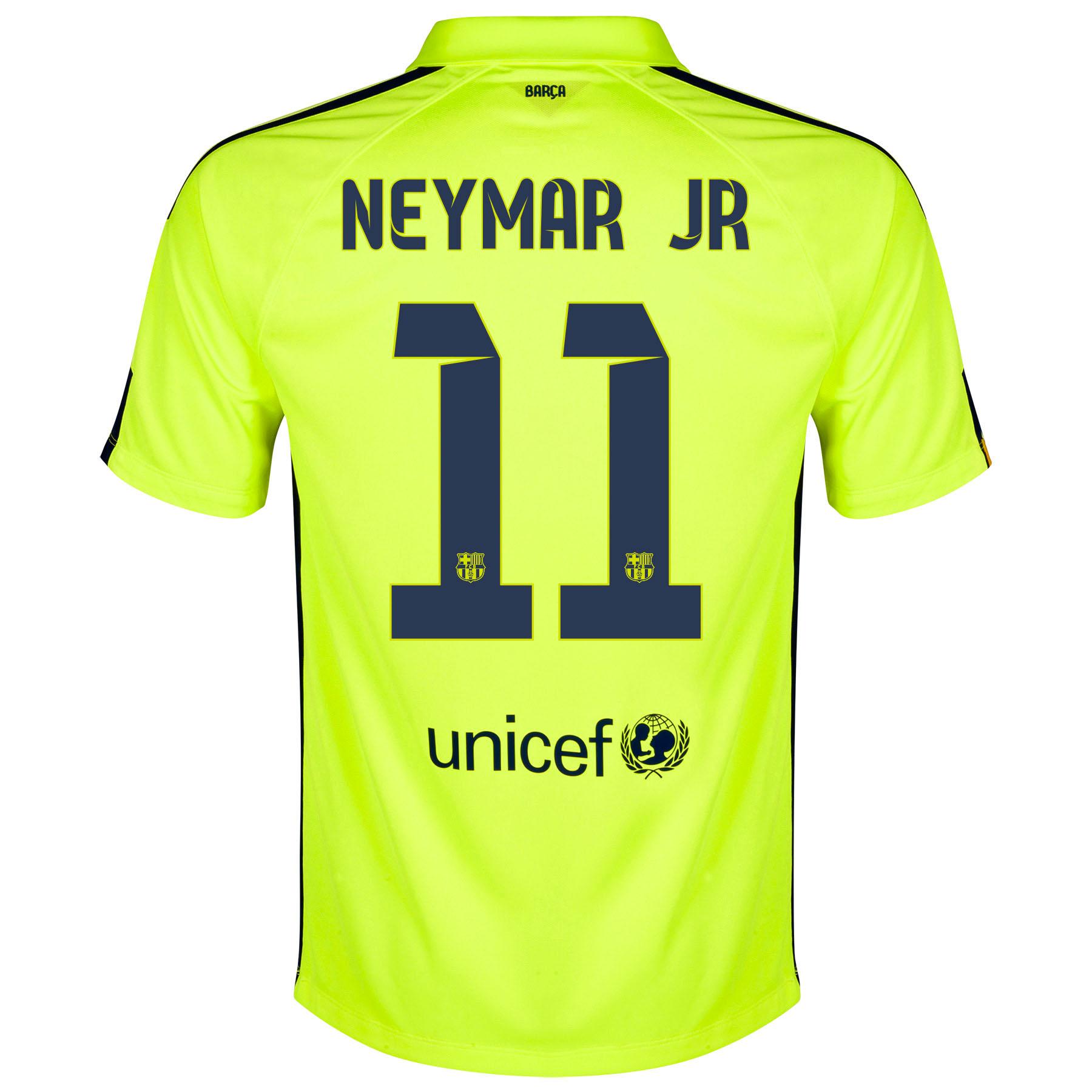 Barcelona Third Shirt 2014/15 Yellow with Neymar Jr 11 printing