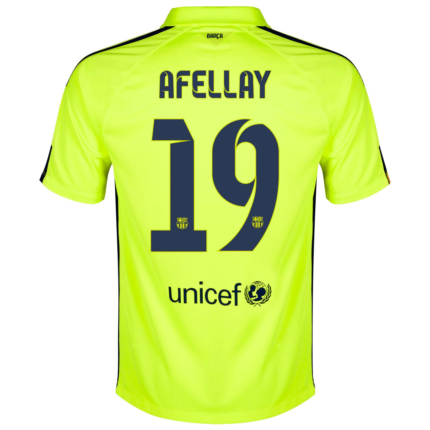 Barcelona Third Shirt 2014/15 Yellow with Afellay 19 printing