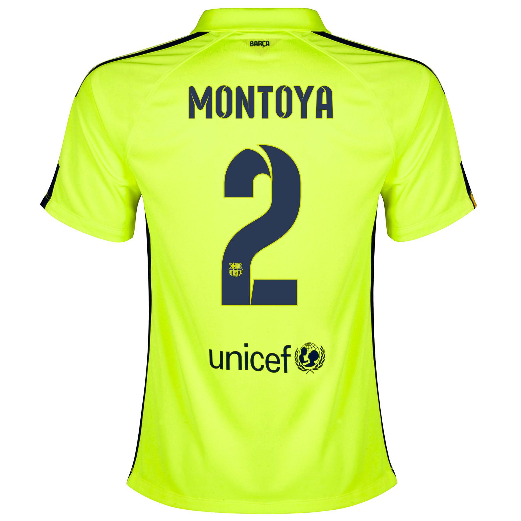 Barcelona Third Shirt 2014/15 - Womens Yellow with Montoya 2 printing