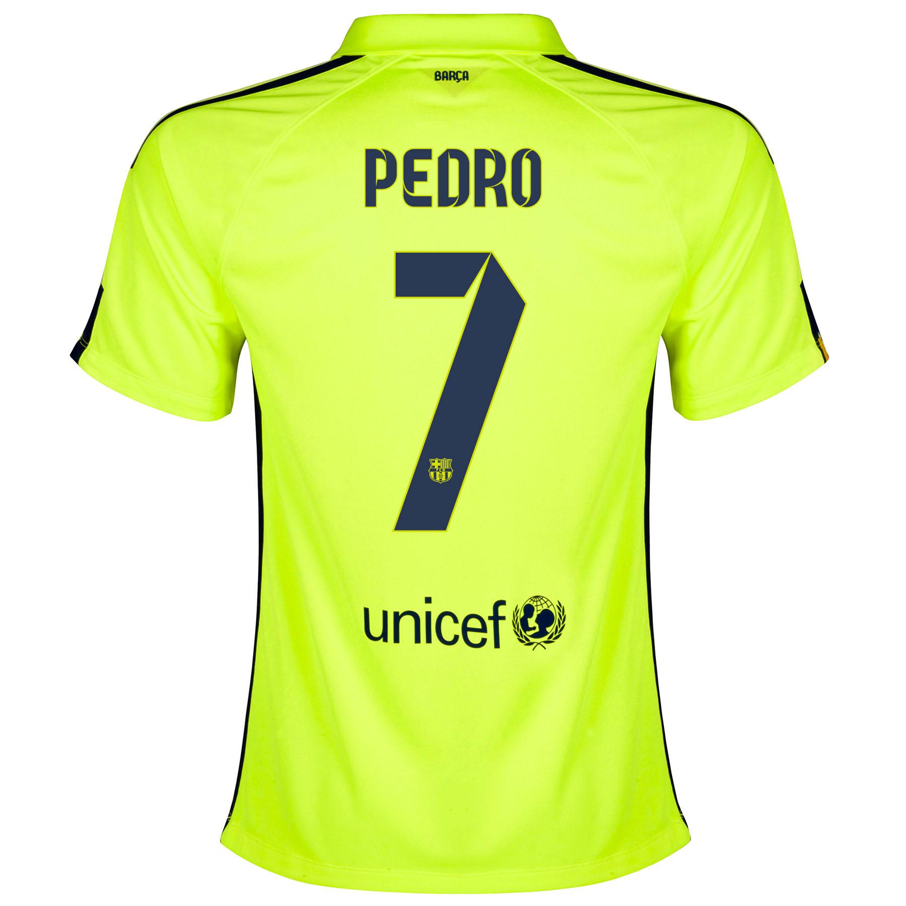 Barcelona Third Shirt 2014/15 - Womens Yellow with Pedro 7 printing