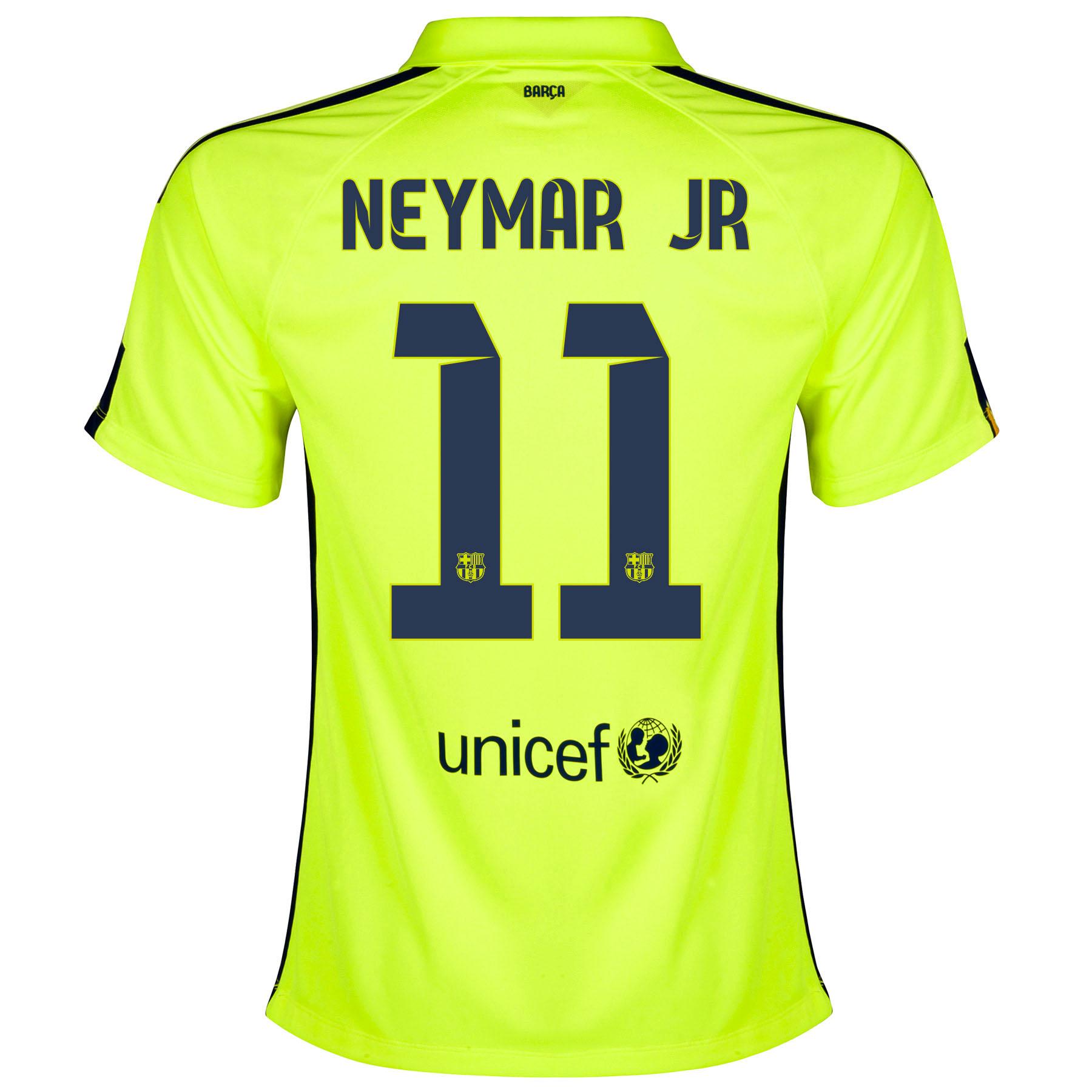 Barcelona Third Shirt 2014/15 - Womens Yellow with Neymar Jr 11 printing
