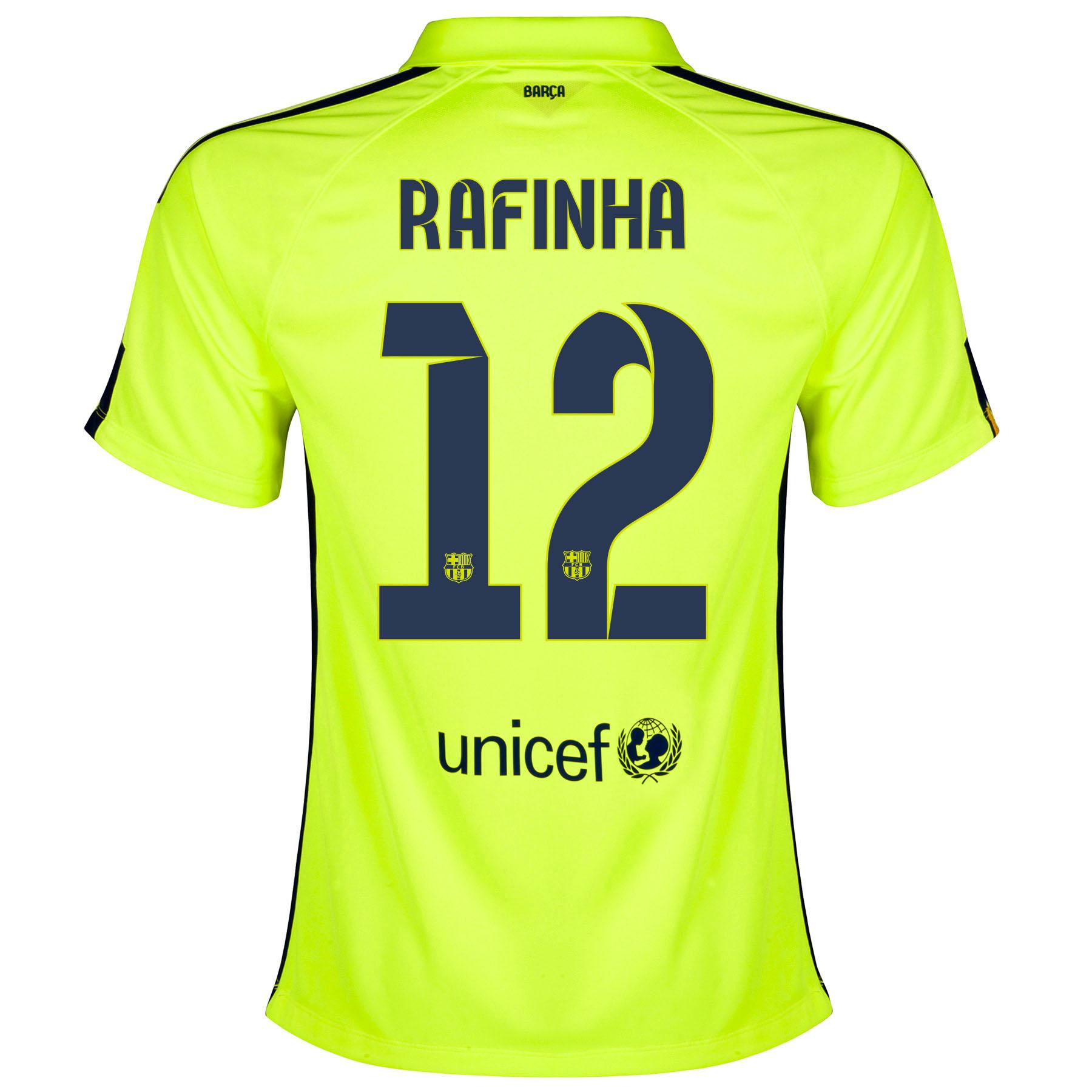 Barcelona Third Shirt 2014/15 - Womens Yellow with Rafinha 12 printing