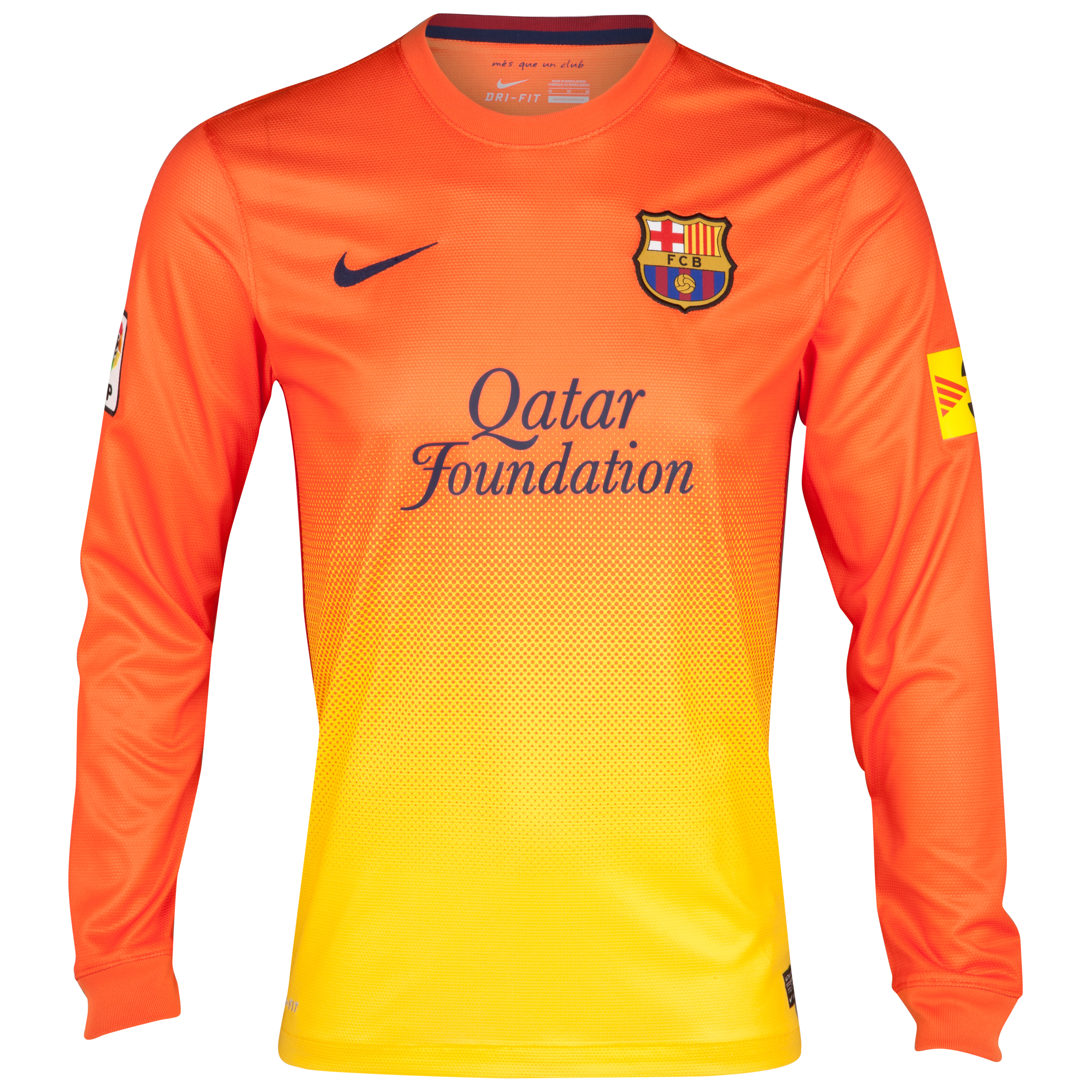 Barcelona Away Shirt 2012/13 - Long Sleeved