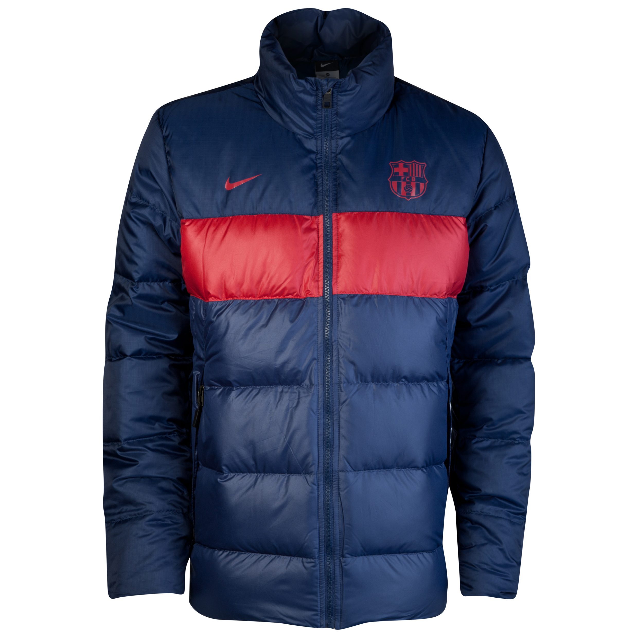 Barcelona Down Jacket - Midnight Navy/Storm Red