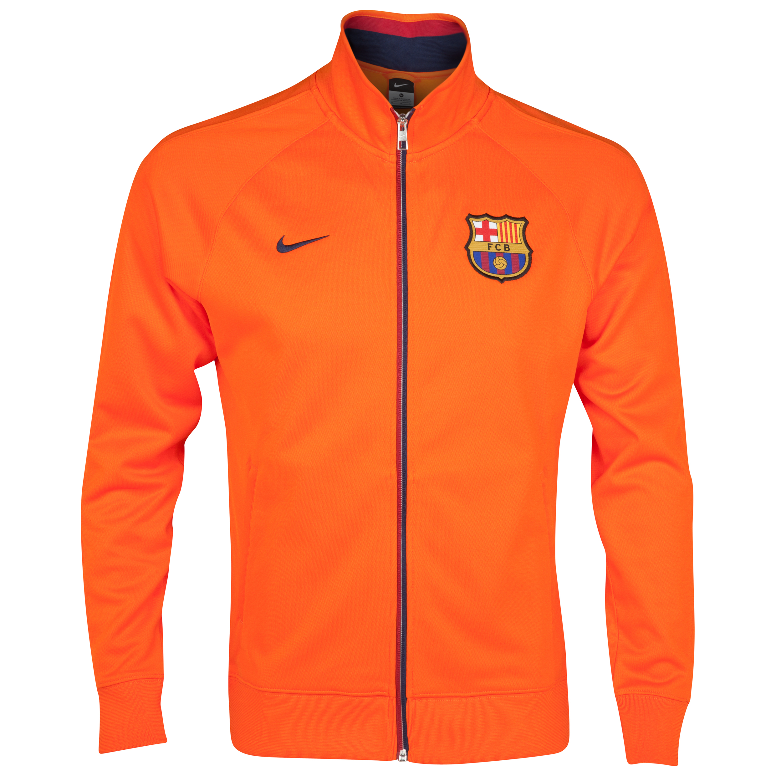 Barcelona Core Trainer Jacket - Safety Orange/Midnight Navy