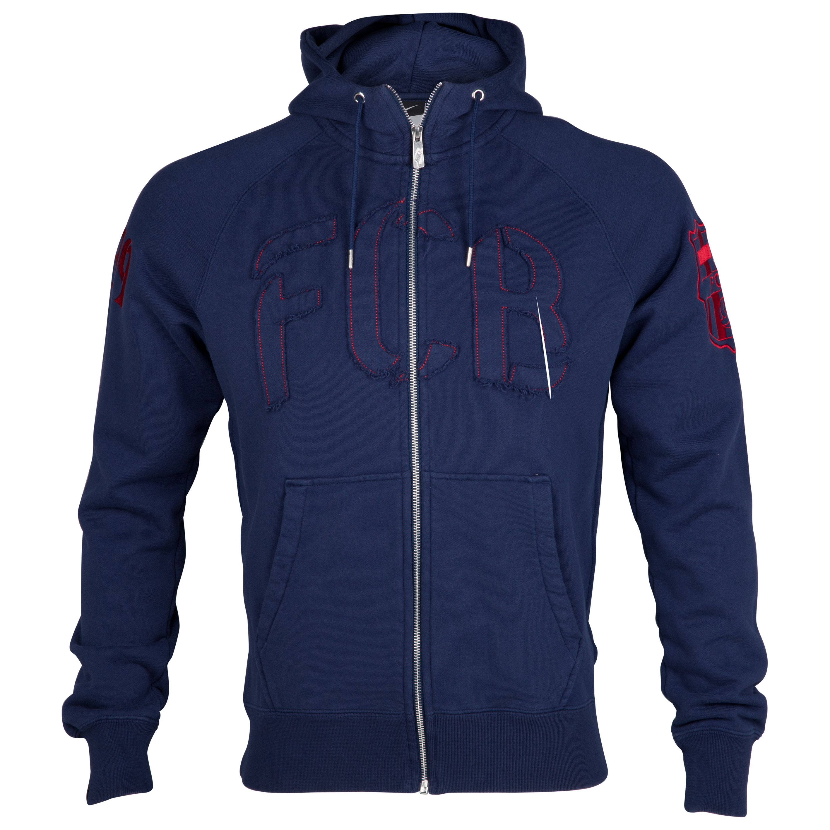 Barcelona Authentic AW77 Full Zip Hoodie - Midnight Navy