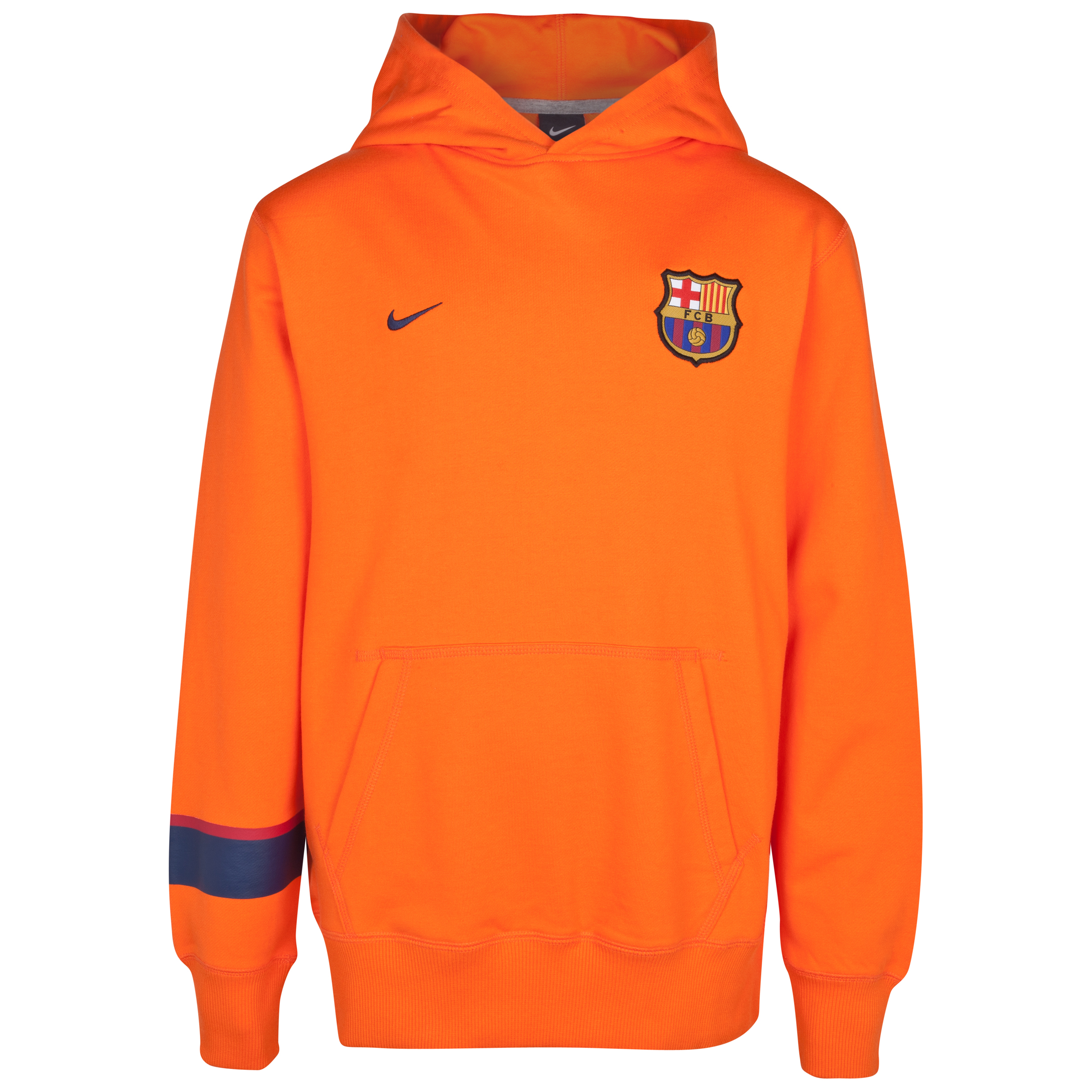 Barcelona Core Hoodie - Safety Orange/Midnight Navy - Kids