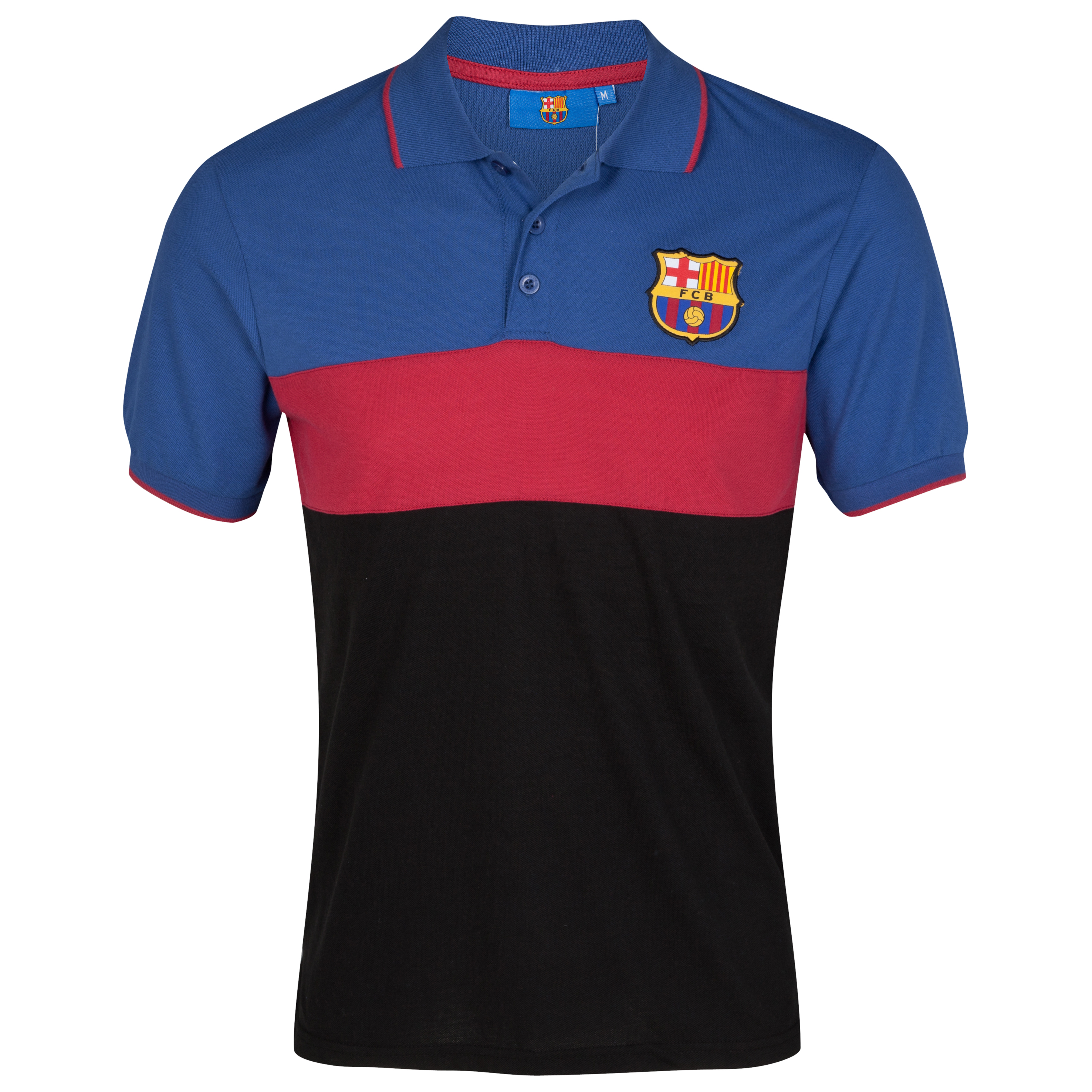 Barcelona Essentials Panelled Polo - Barca Navy - Older Boys