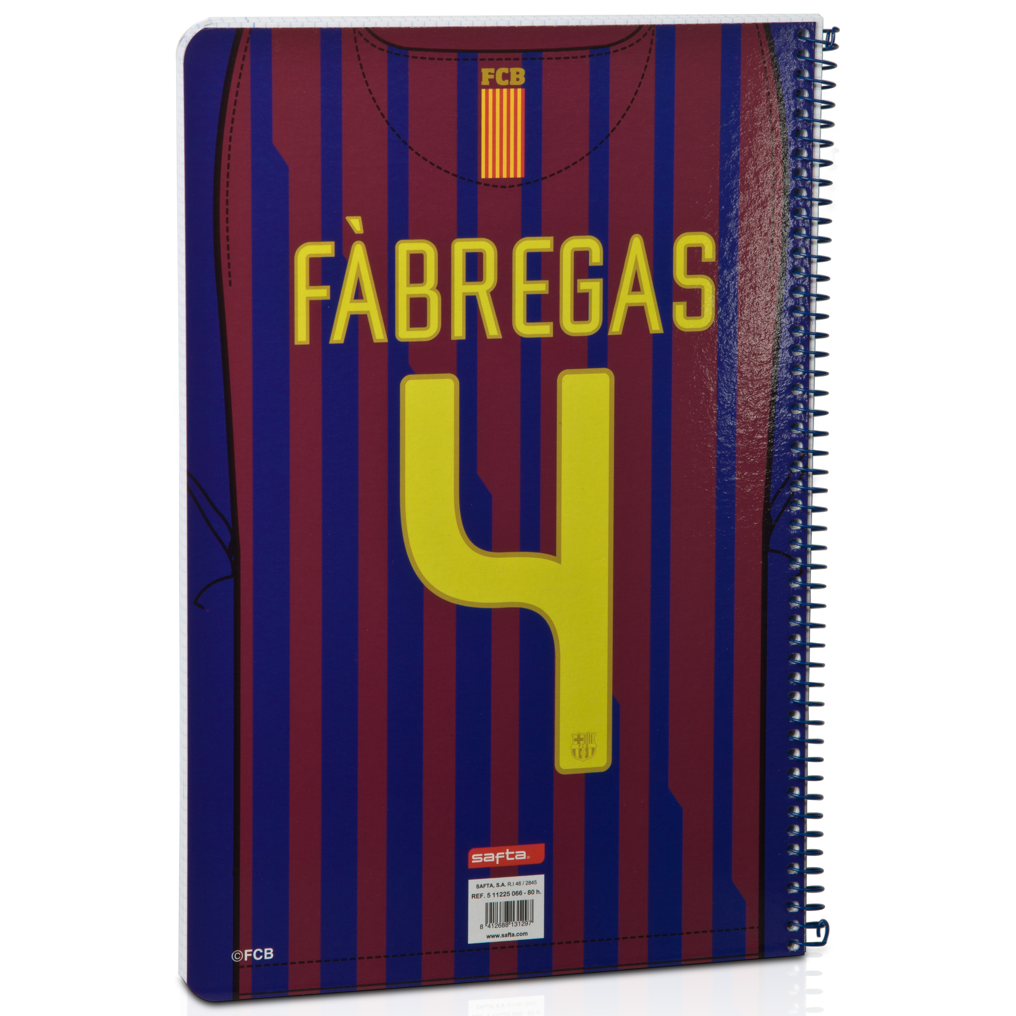 Barcelona Home Notebook - Fabregas