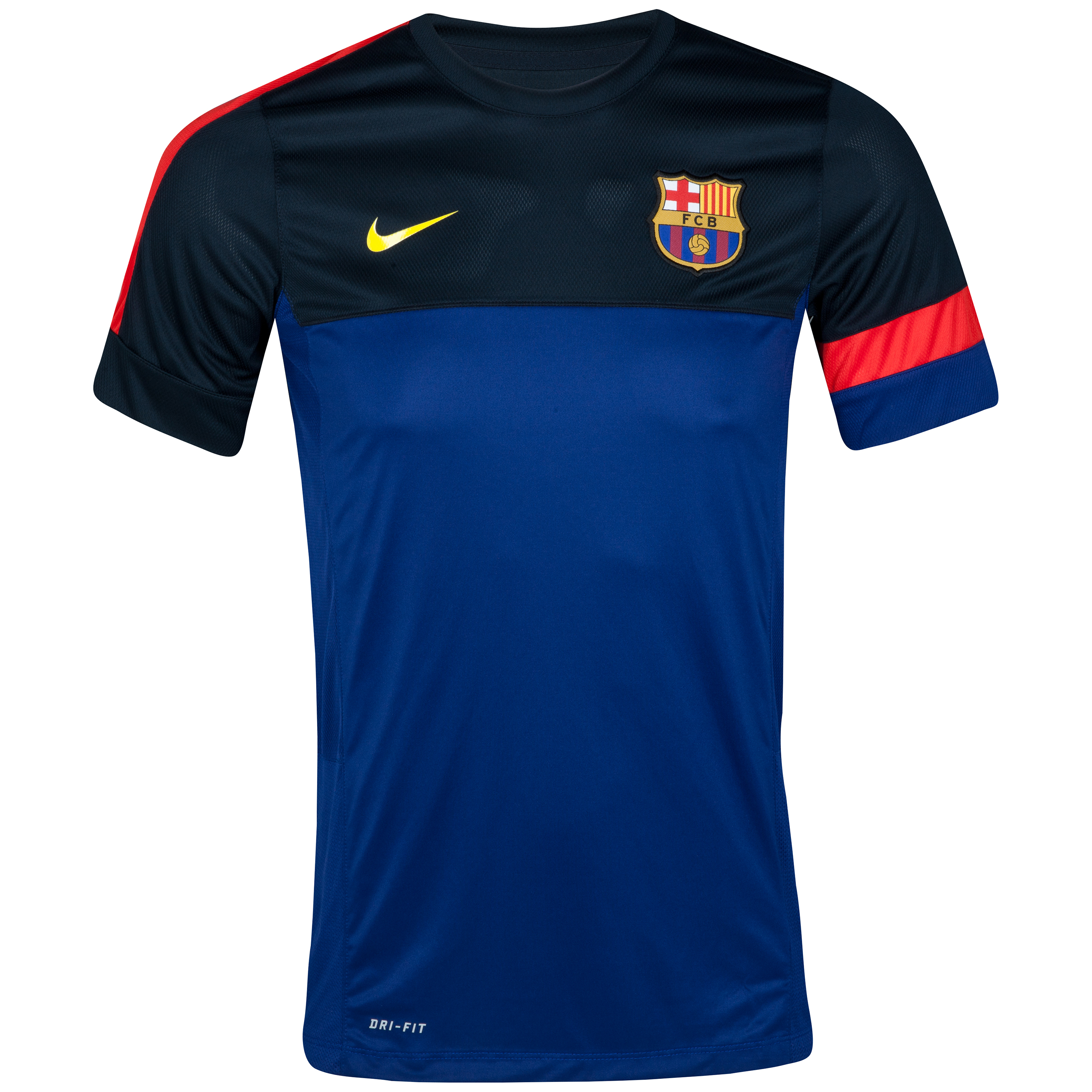 Barcelona Short Sleeve Training Top - Deep Royal Blue/Tour Yellow