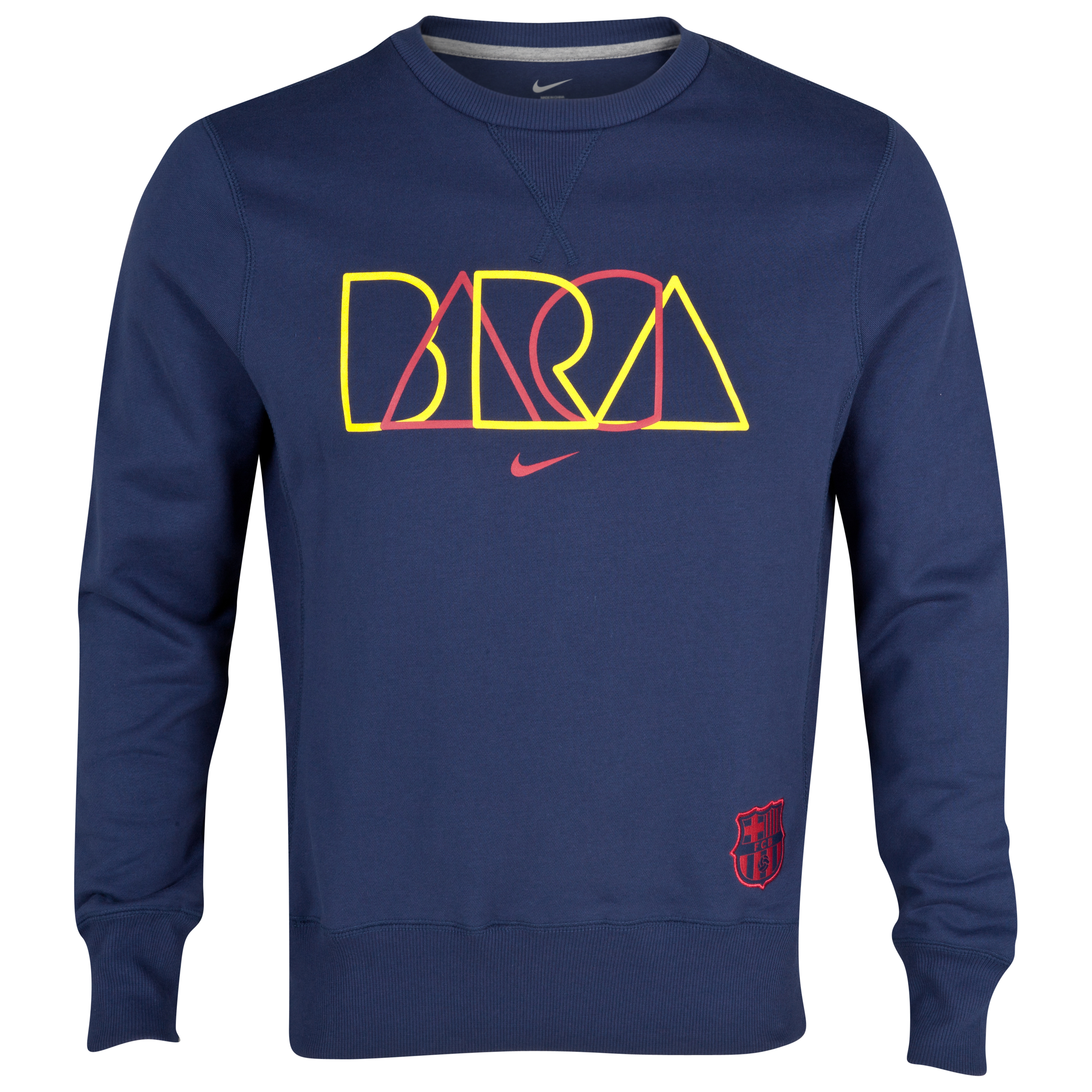 Barcelona Core Crew Sweatshirt - Midnight Navy/Stormred