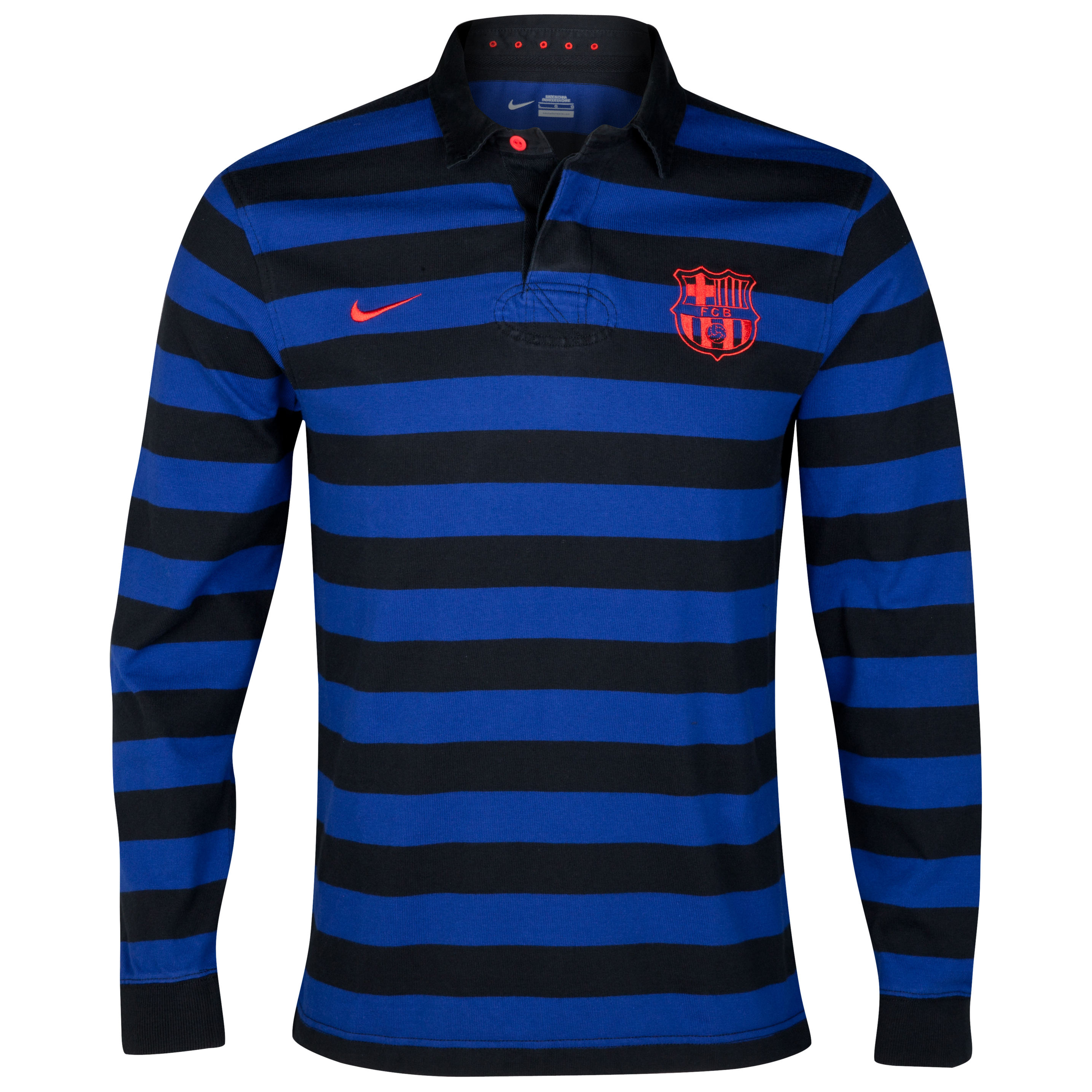 Barcelona Rugby Top - Deep Royal Blue/Black/Challenge Red