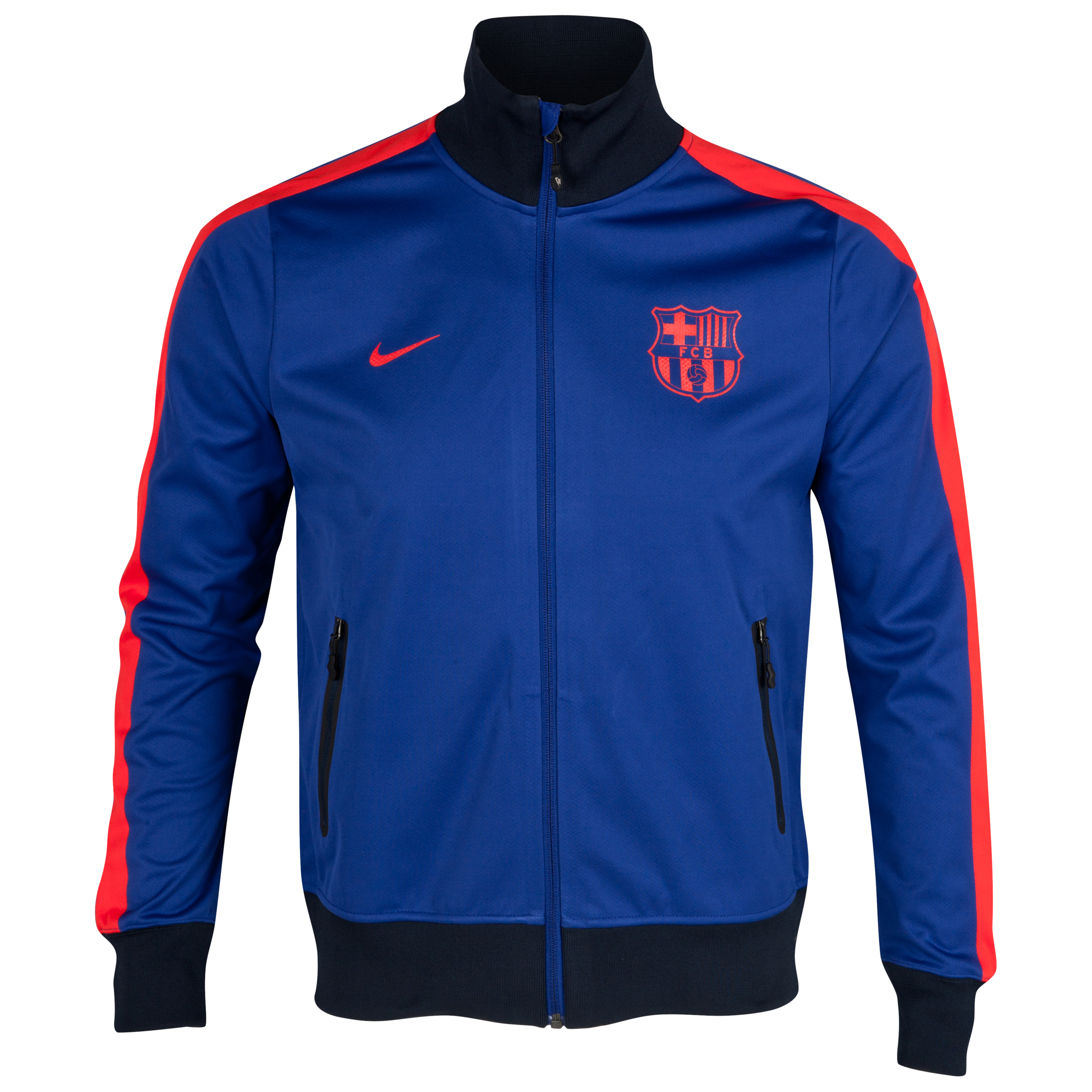 Barcelona Authentic N98 Jacket - Deep Royal Blue/Challenge Red