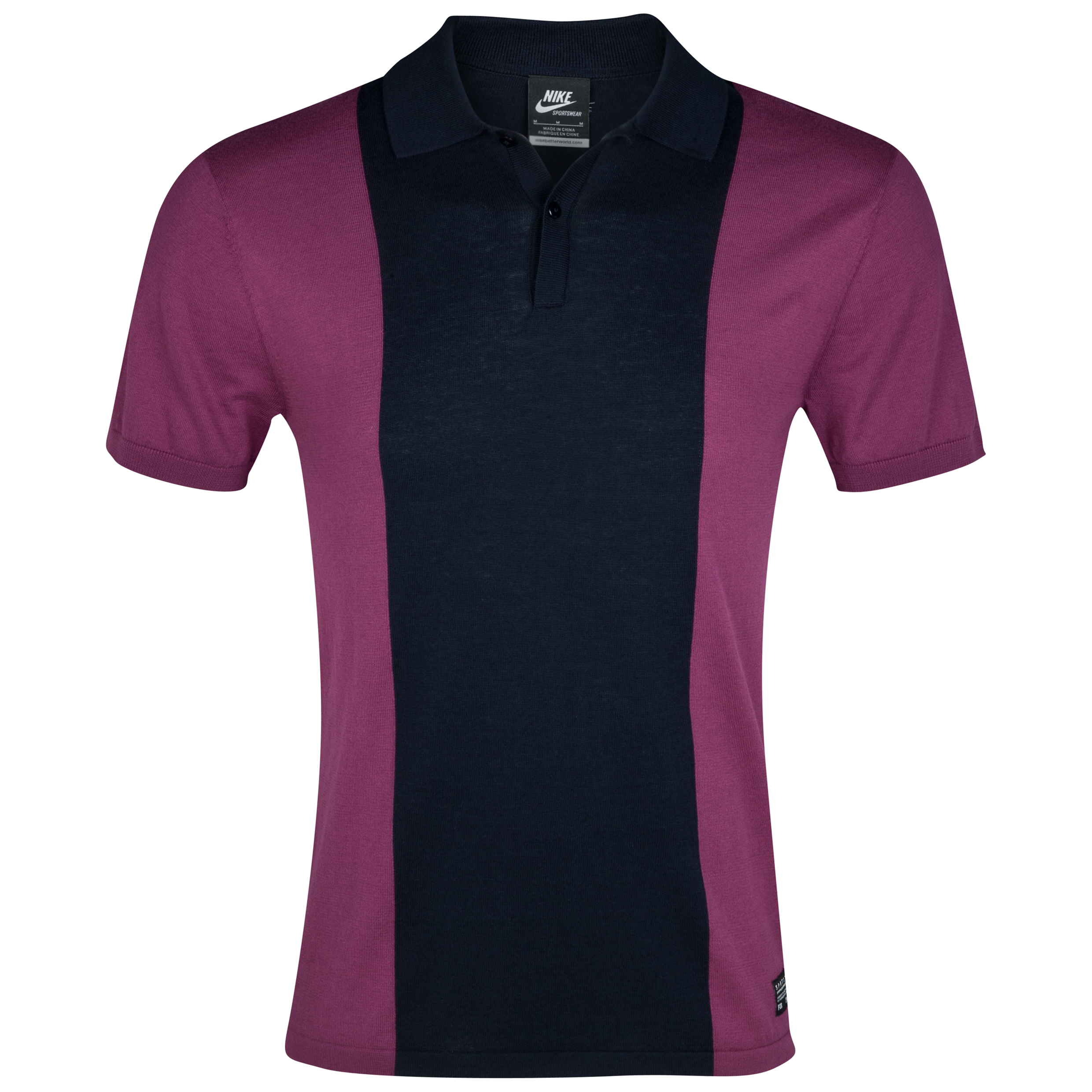 Barcelona NSW Knit Polo - Dark Obsidian