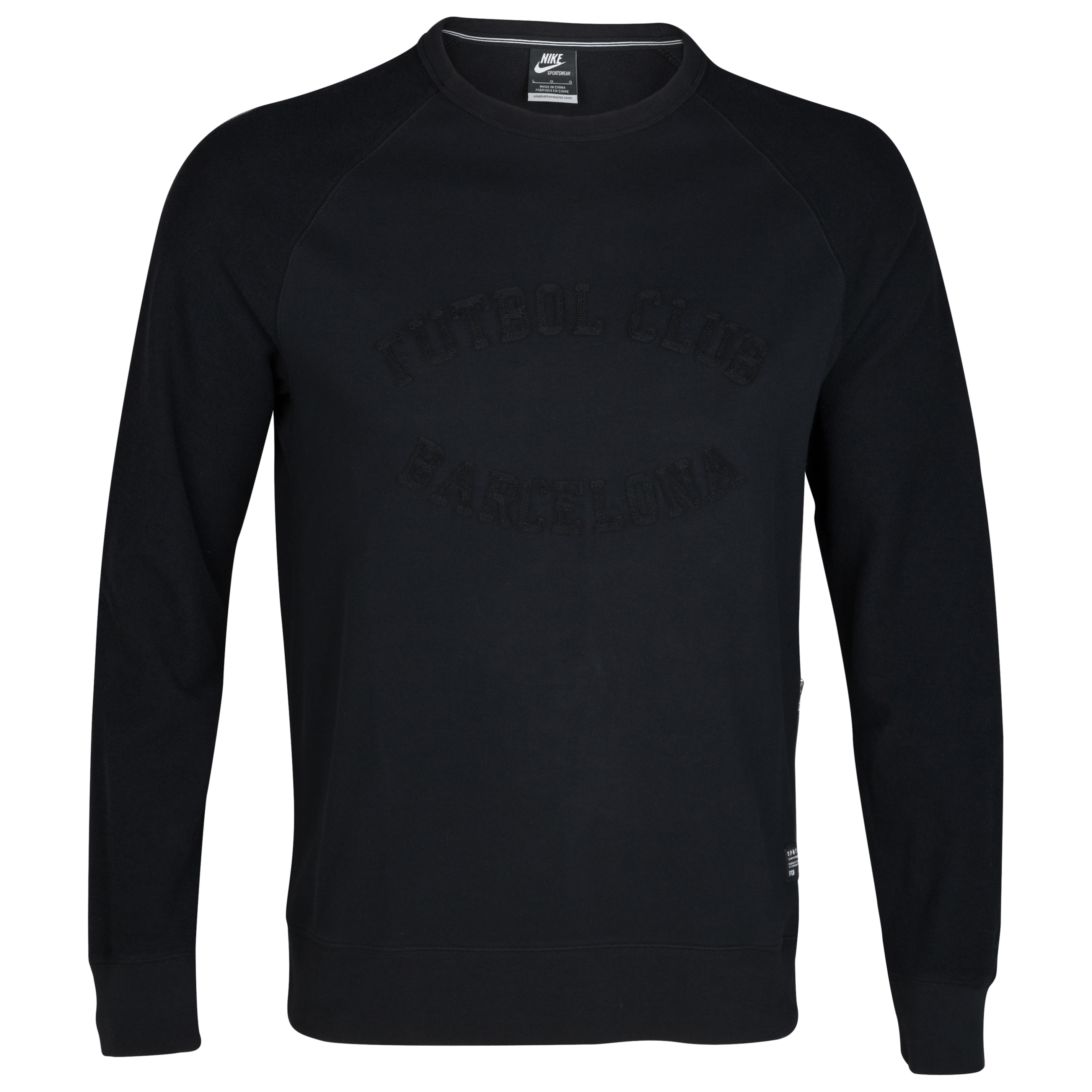 Barcelona NSW Crew Neck Sweatshirt - Black