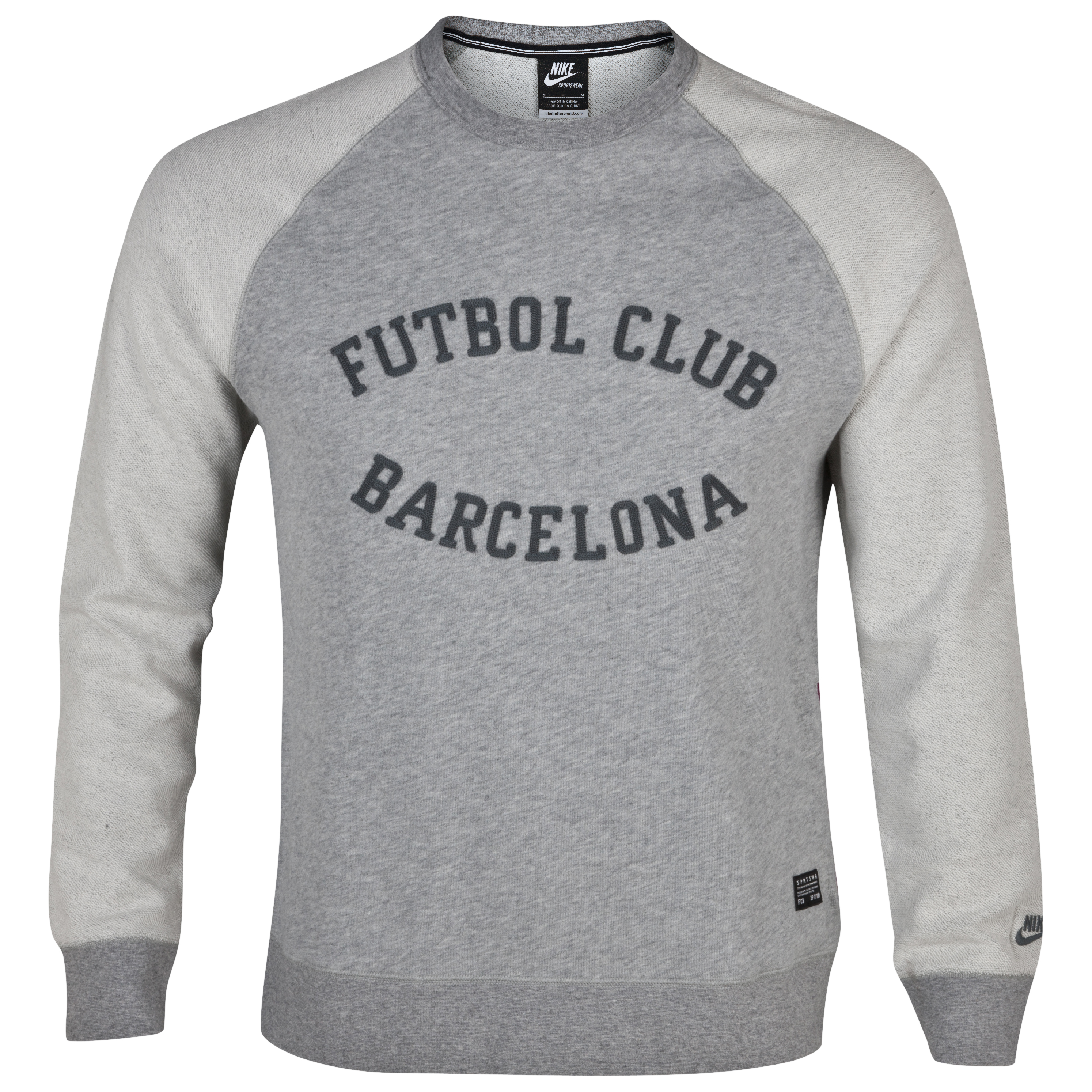 Barcelona NSW Crew Neck Sweatshirt - Dark Grey Heather