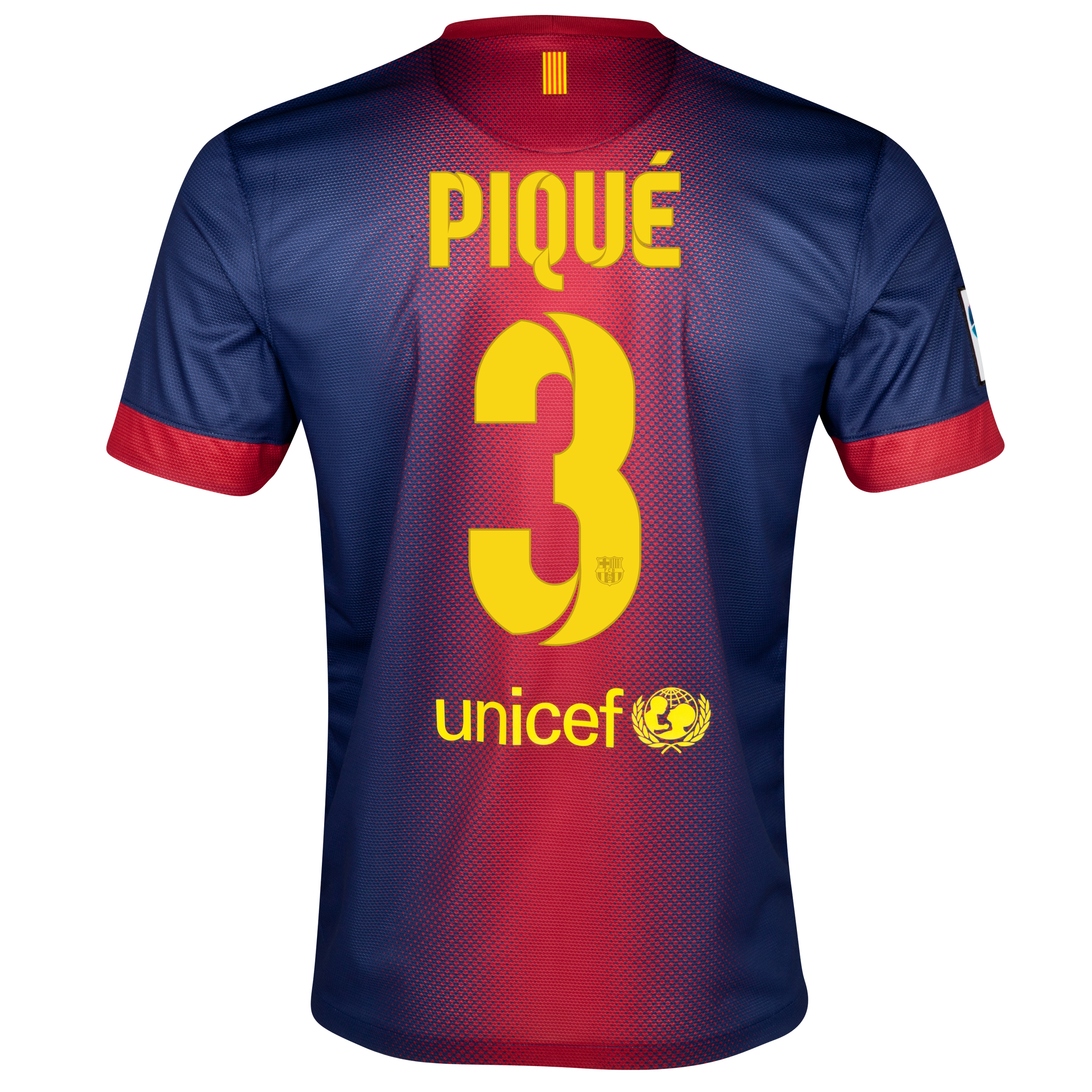 Barcelona Home Shirt 2012/13 with Pique 3 printing
