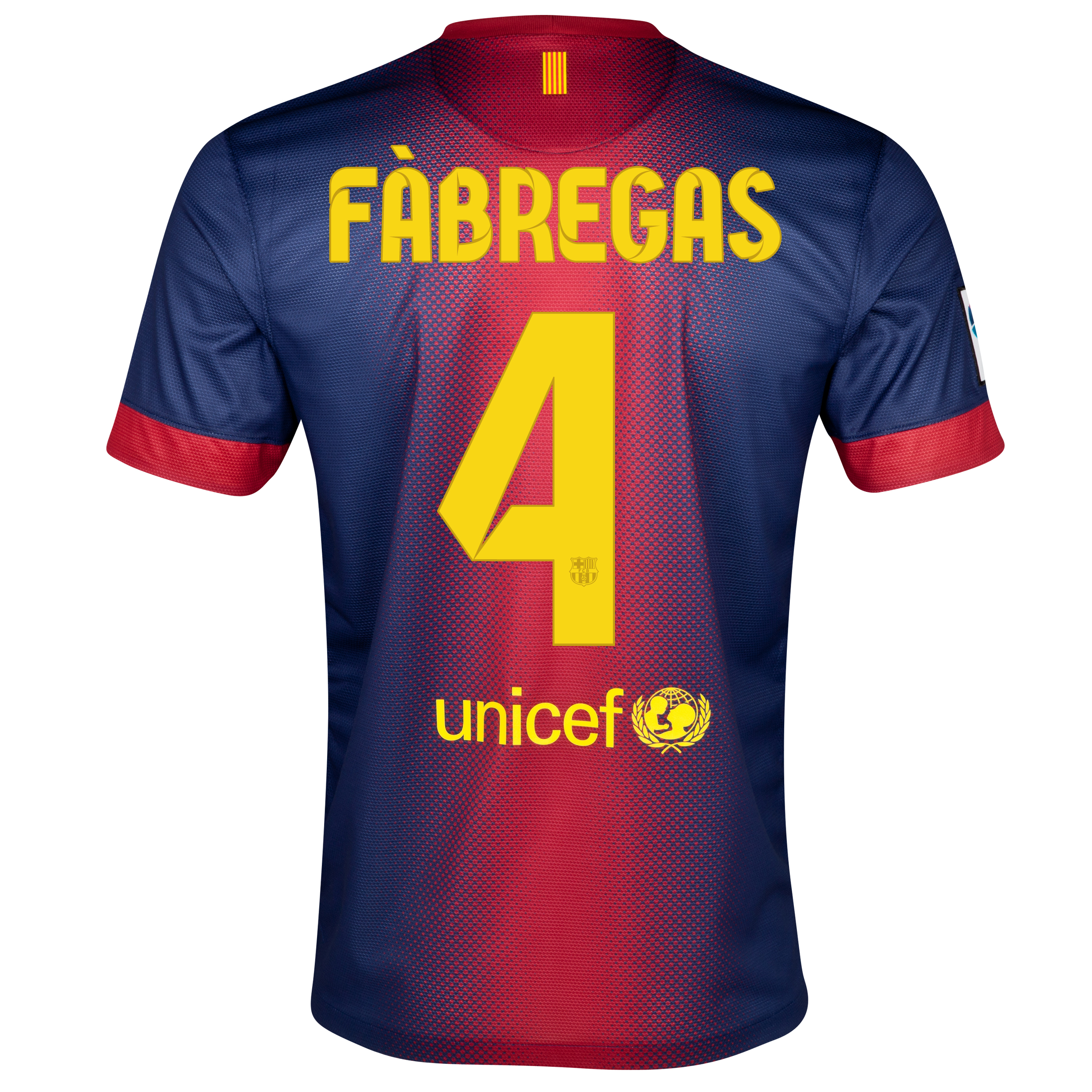 Barcelona Home Shirt 2012/13 with Fabregas 4 printing