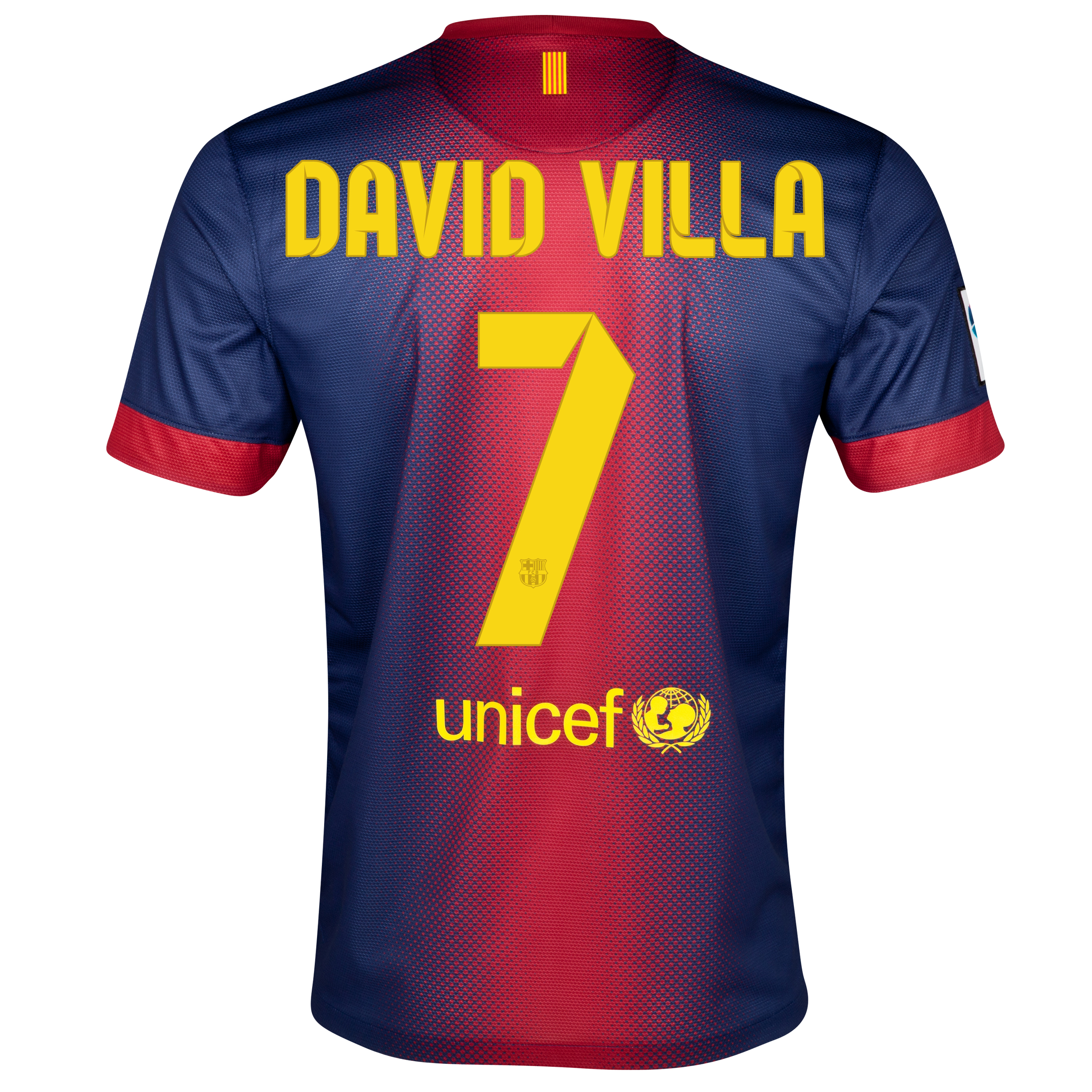 Barcelona Home Shirt 2012/13 with David Villa 7 printing
