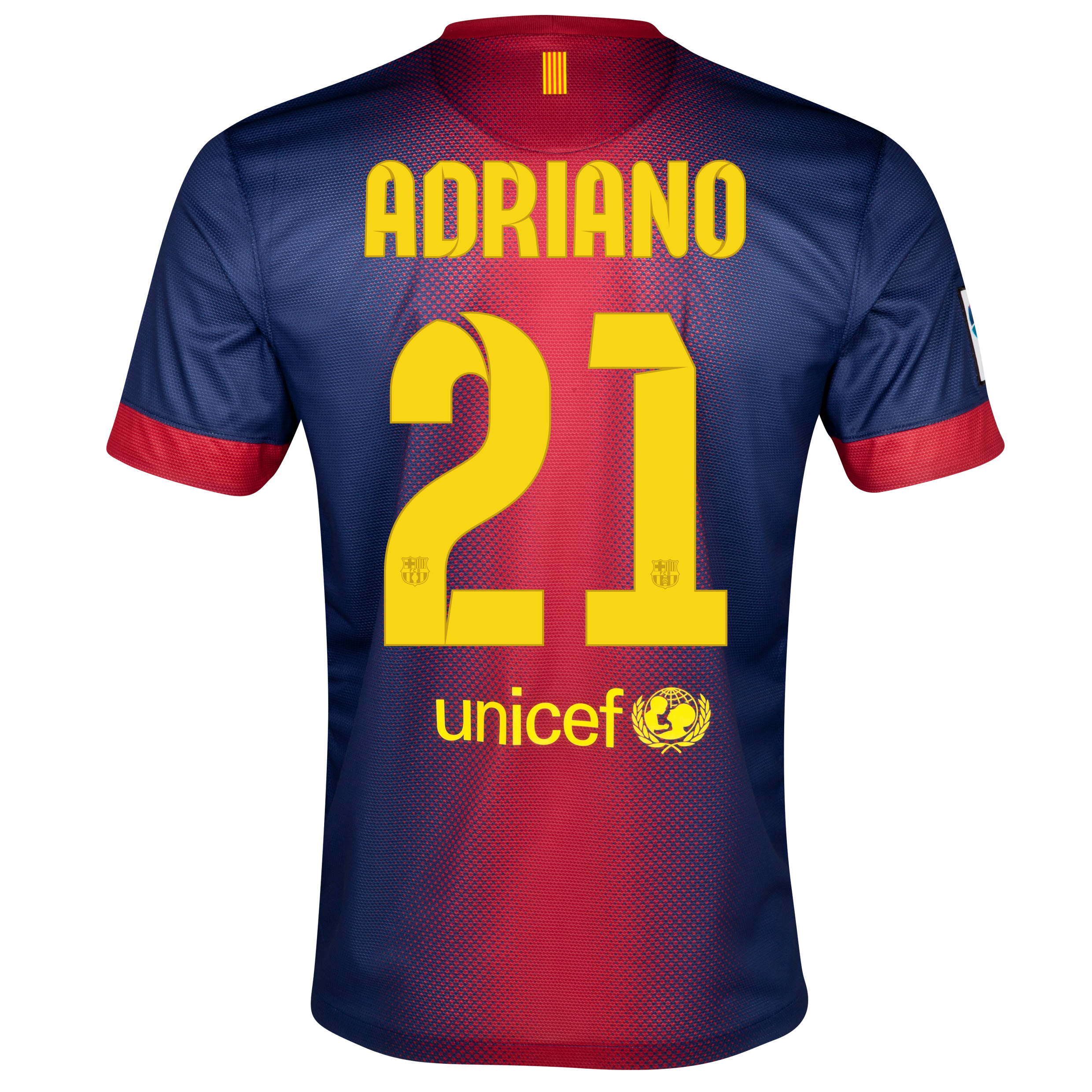 Barcelona Home Shirt 2012/13  - Kids with Adriano 21 printing