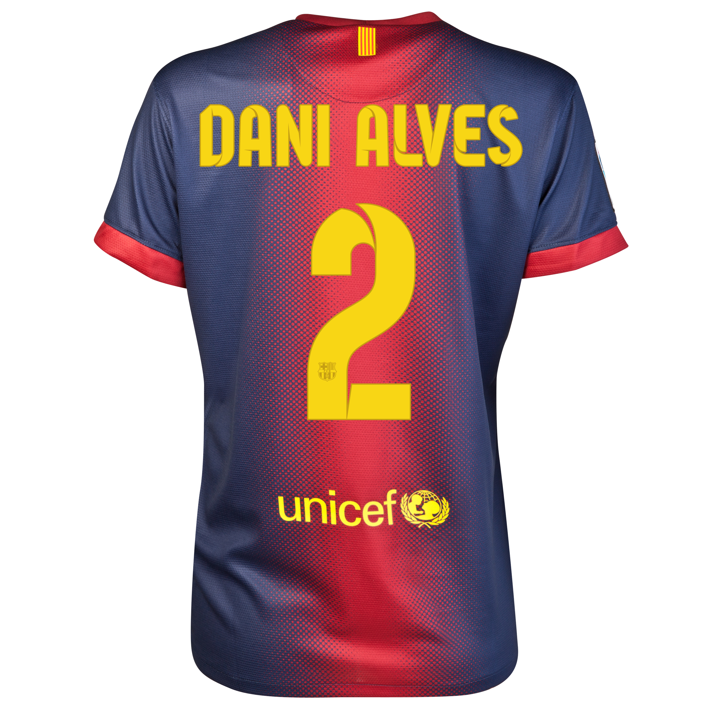 Barcelona Home Shirt 2012/13 - Womens with Dani Alves 2 printing