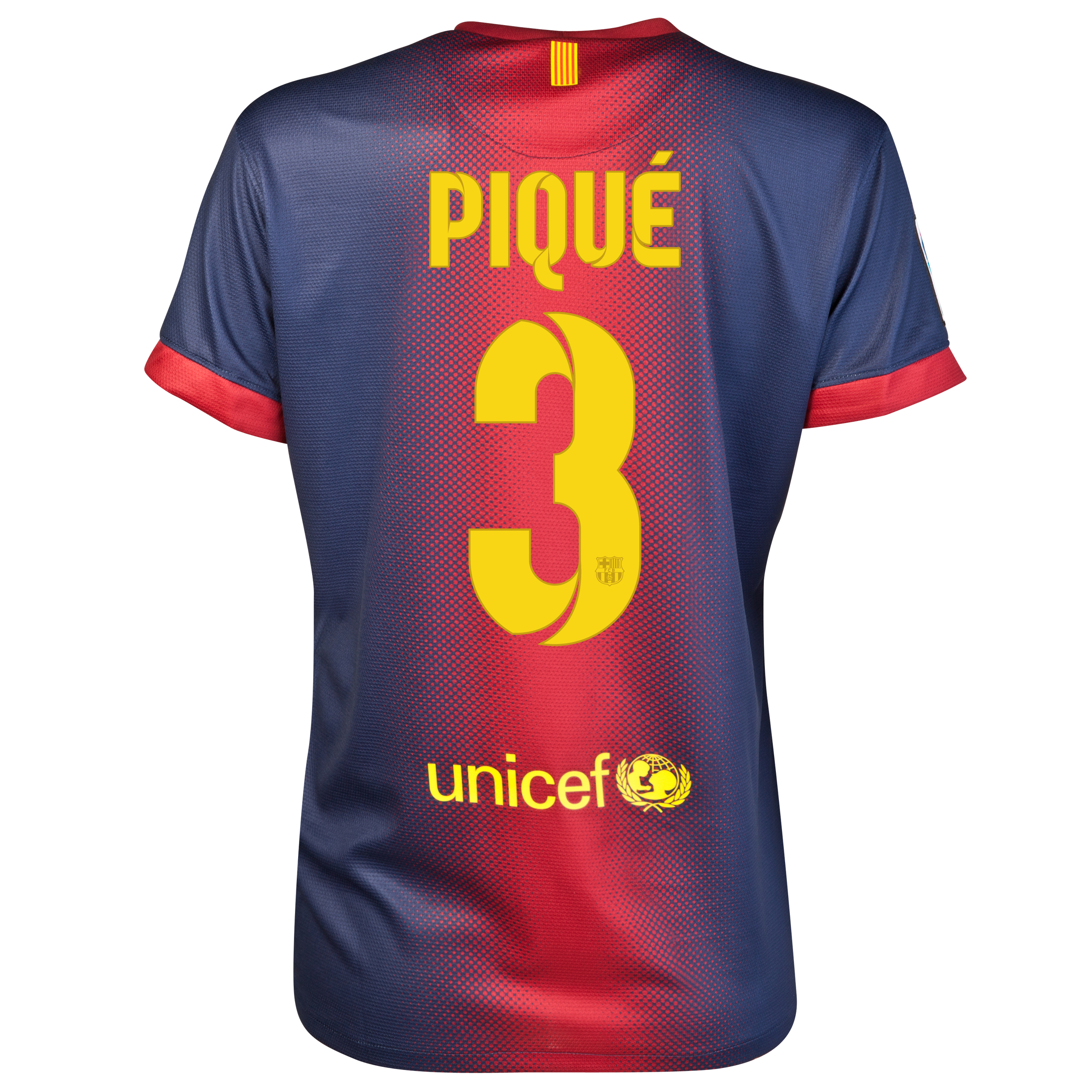 Barcelona Home Shirt 2012/13 - Womens with Pique 3 printing