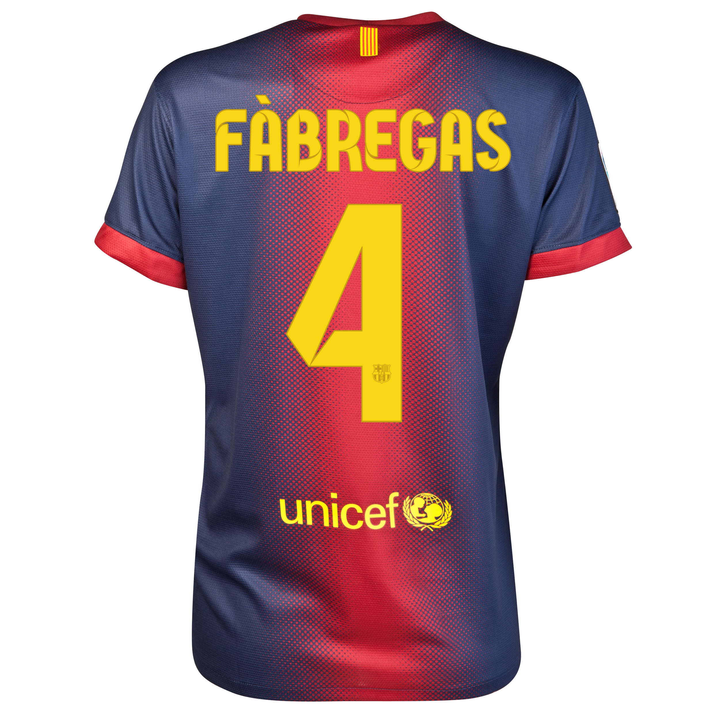 Barcelona Home Shirt 2012/13 - Womens with Fabregas 4 printing
