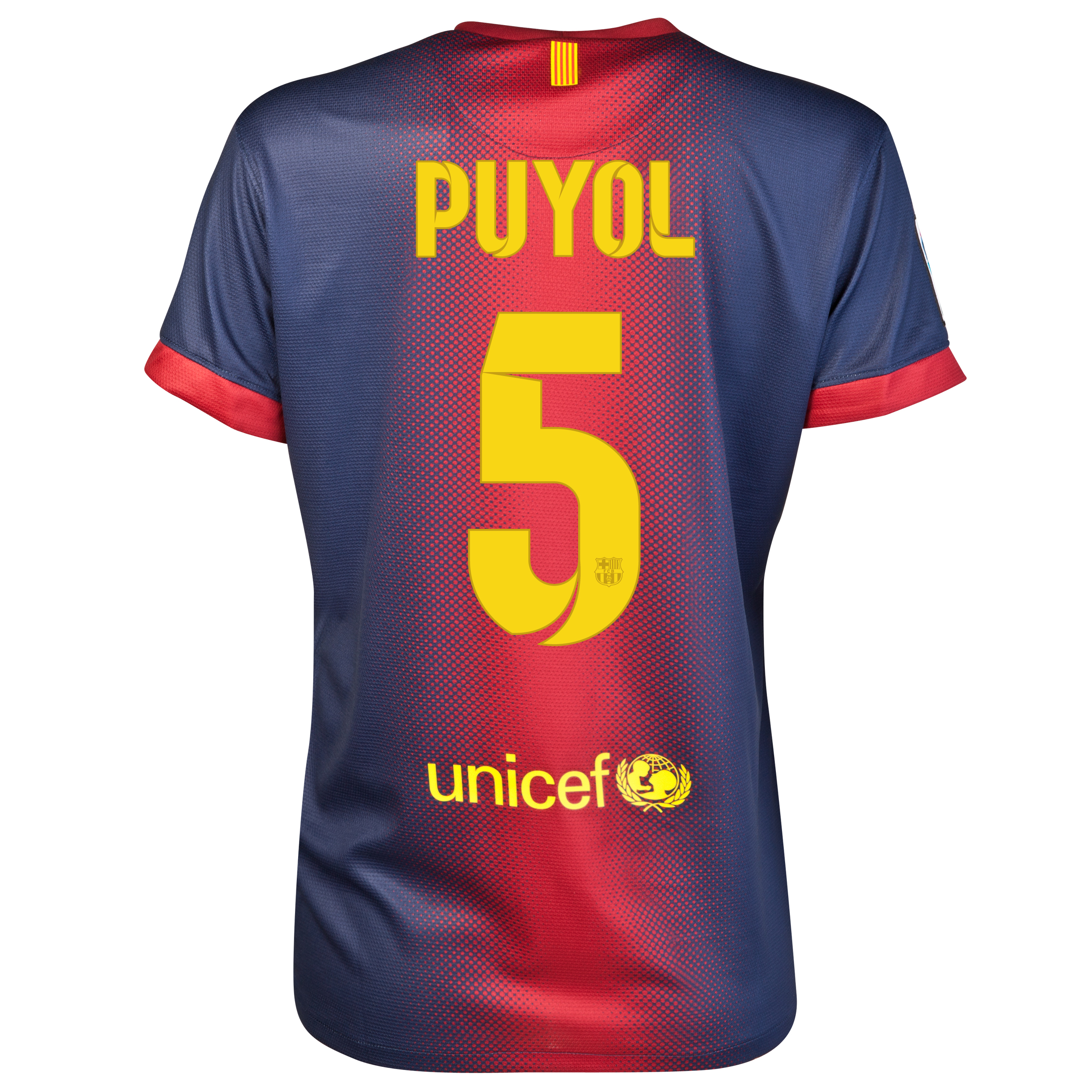 Barcelona Home Shirt 2012/13 - Womens with Puyol 5 printing