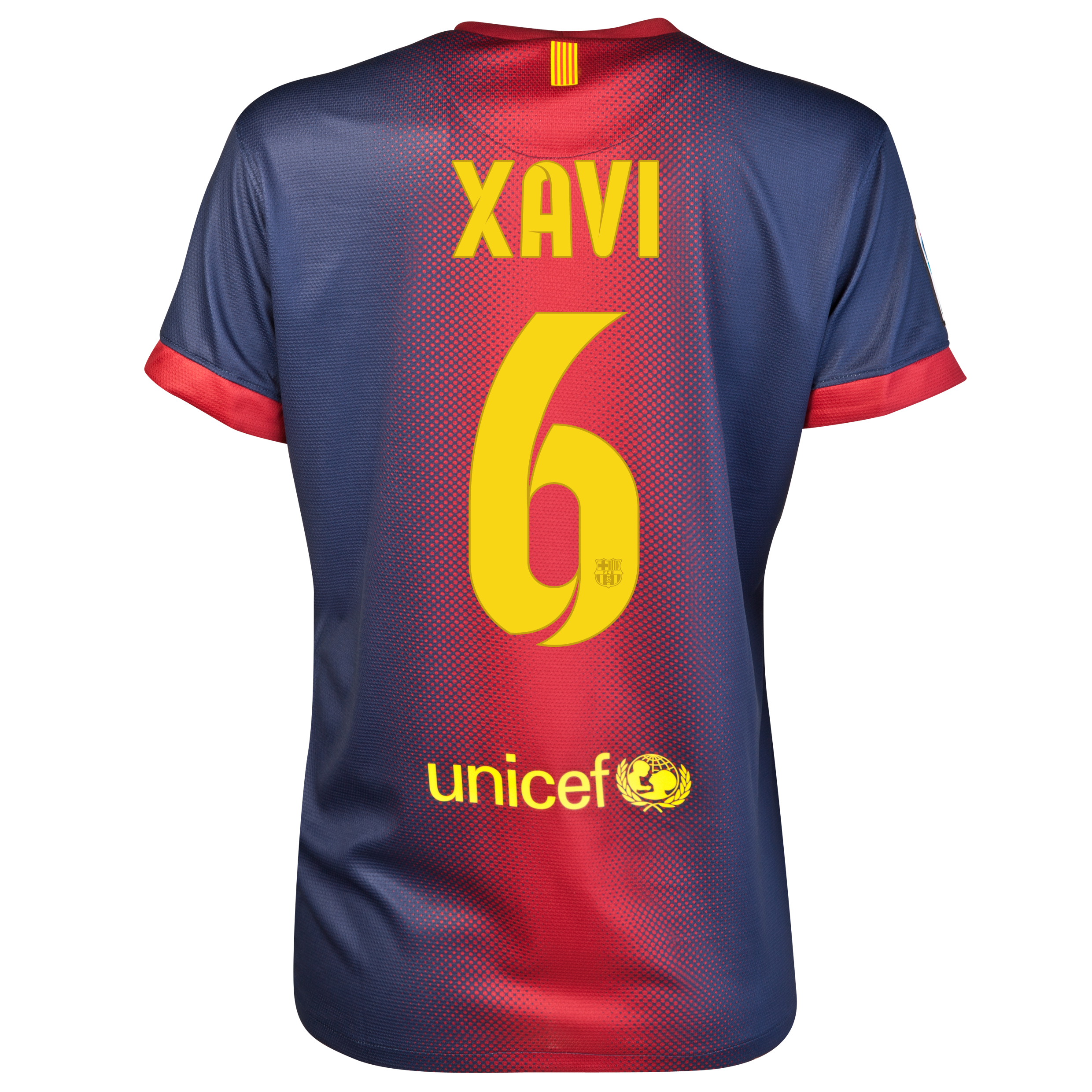 Barcelona Home Shirt 2012/13 - Womens with Xavi 6 printing