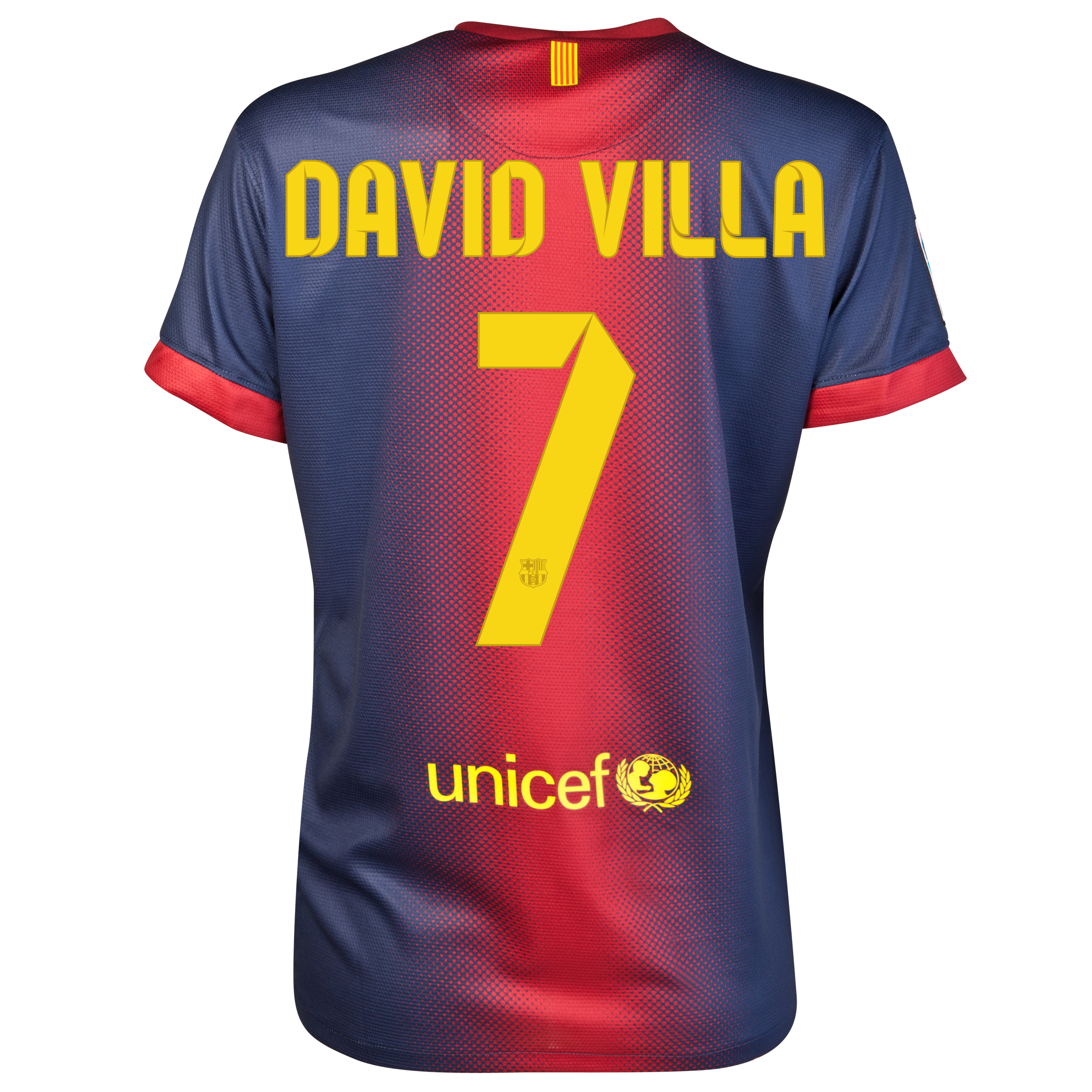 Barcelona Home Shirt 2012/13 - Womens with David Villa 7 printing
