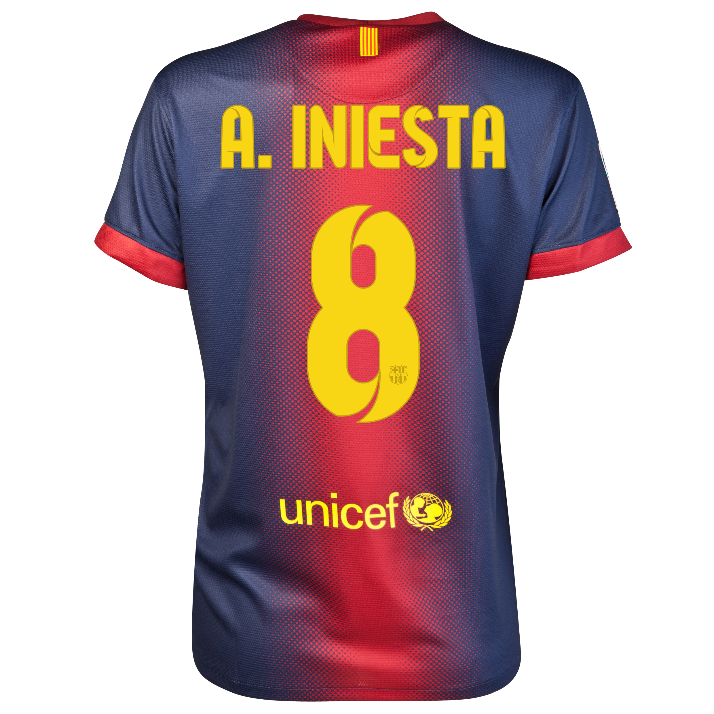 Barcelona Home Shirt 2012/13 - Womens with A. Iniesta  8 printing